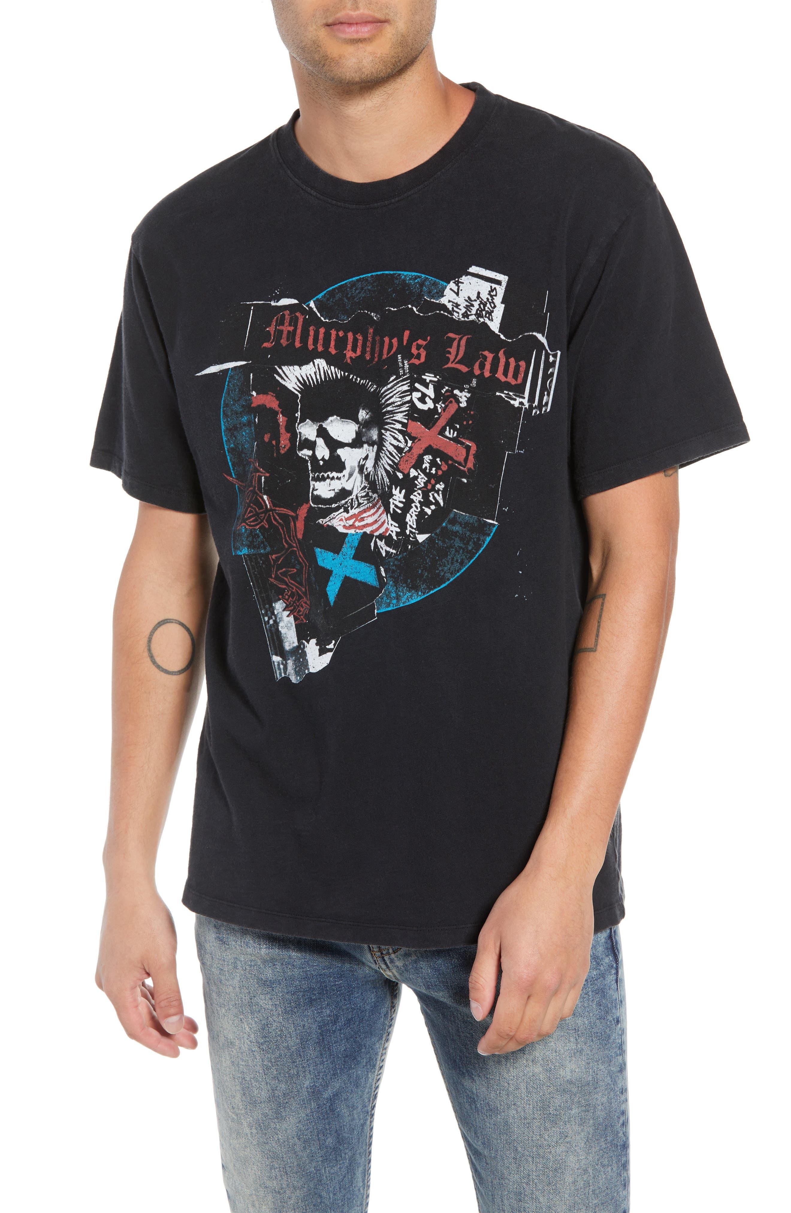 Murphy's Law Graphic T-Shirt,                             Main thumbnail 1, color,                             BLACK