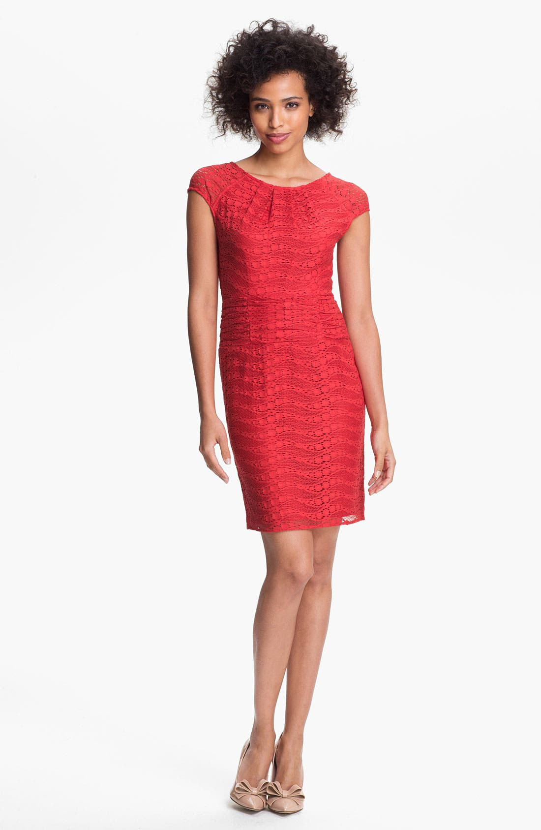 MARC NEW YORK by Andrew Marc Lace Sheath Dress, Main, color, 604