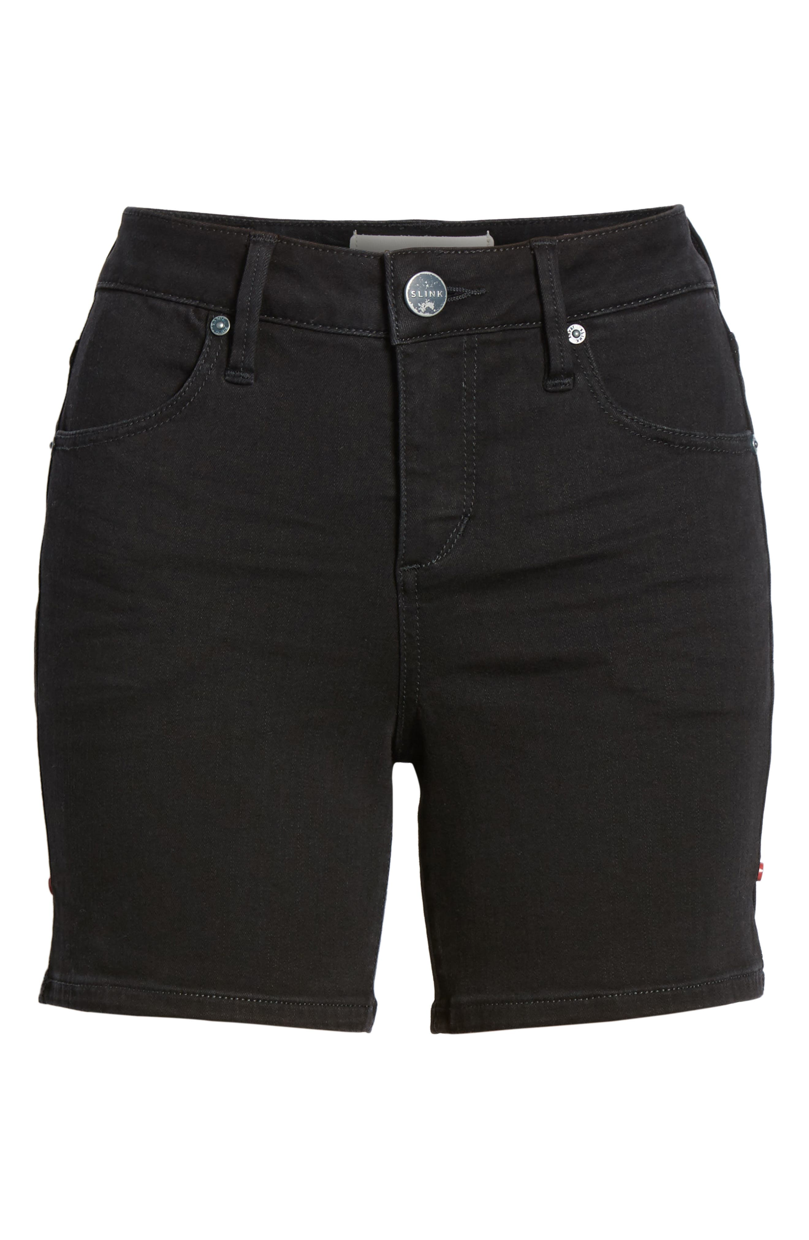 Side Vent Denim Shorts,                             Alternate thumbnail 6, color,