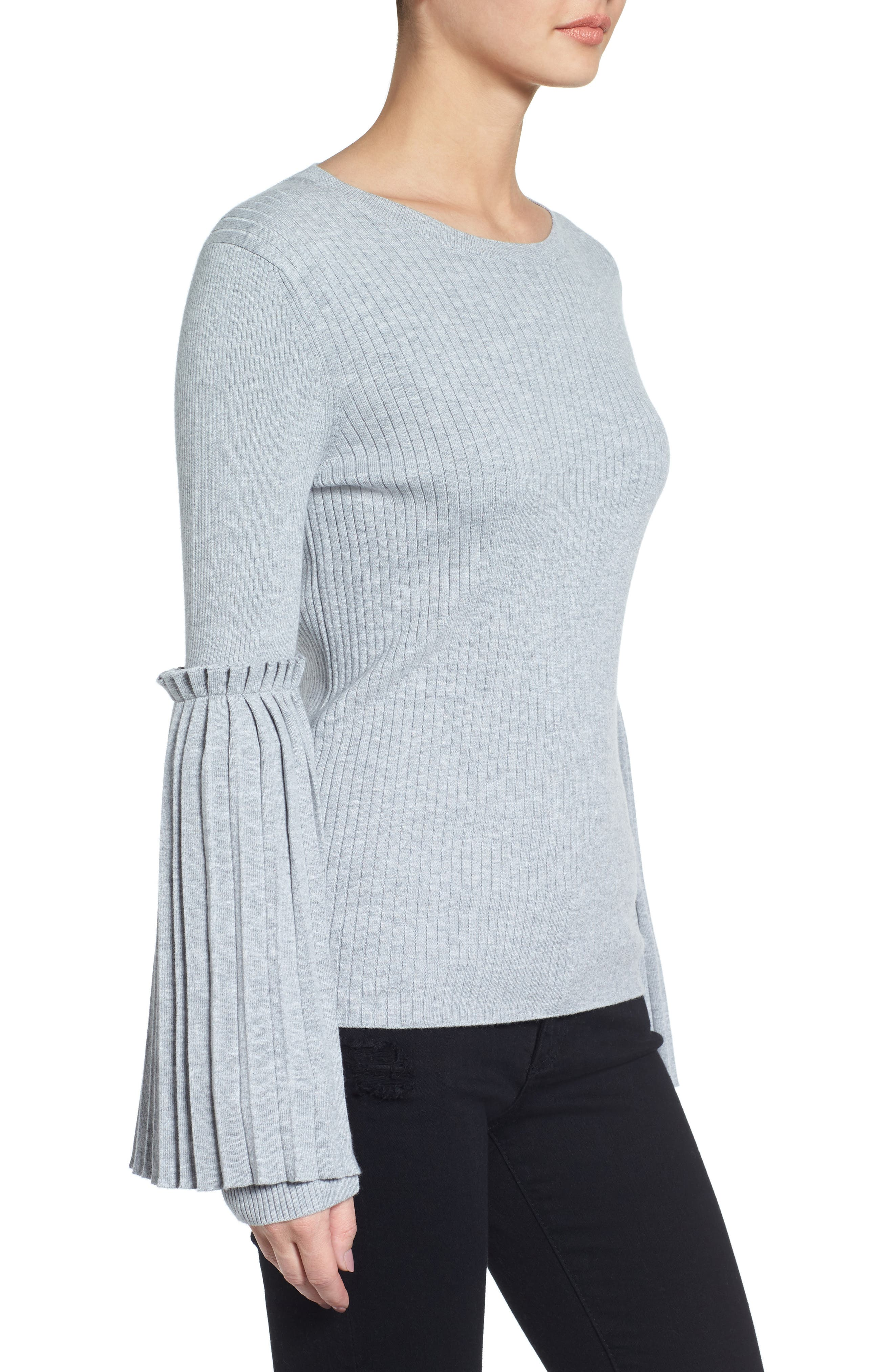 Bell Sleeve Sweater,                             Alternate thumbnail 3, color,                             050