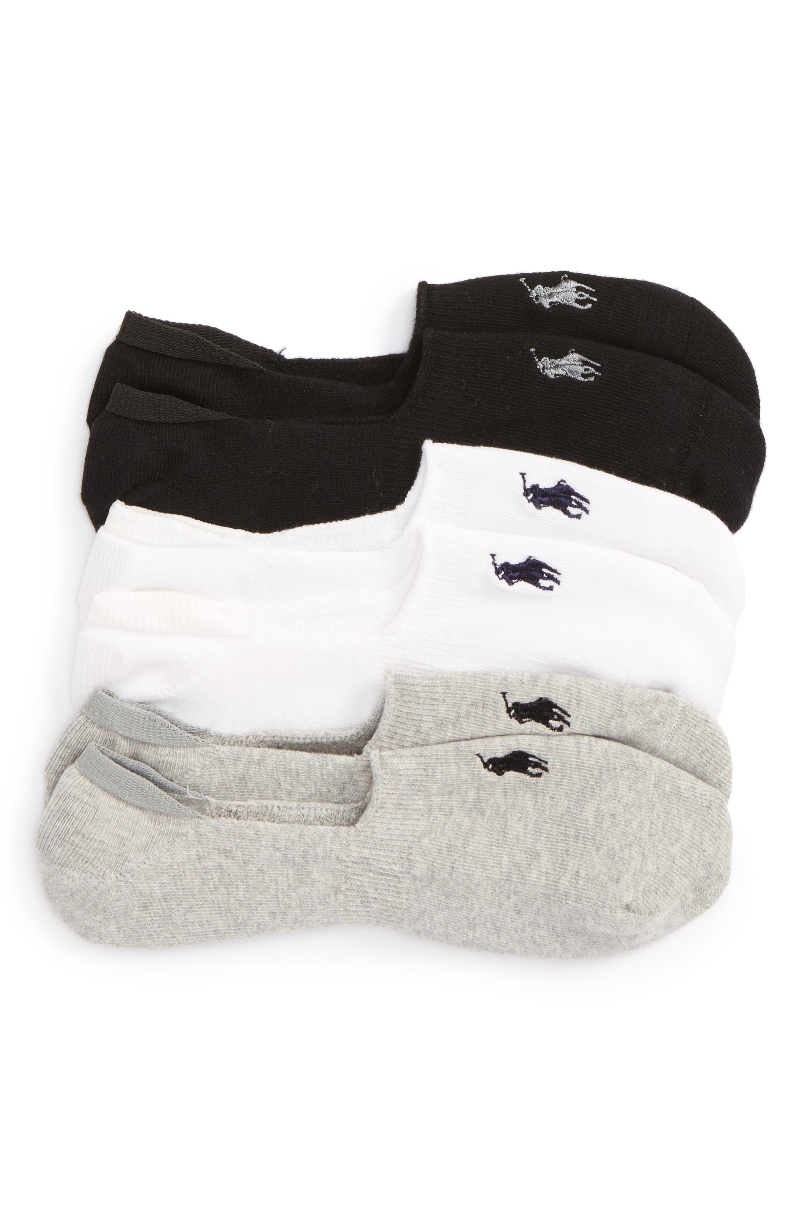 3-Pack No-Show Liner Socks,                         Main,                         color,