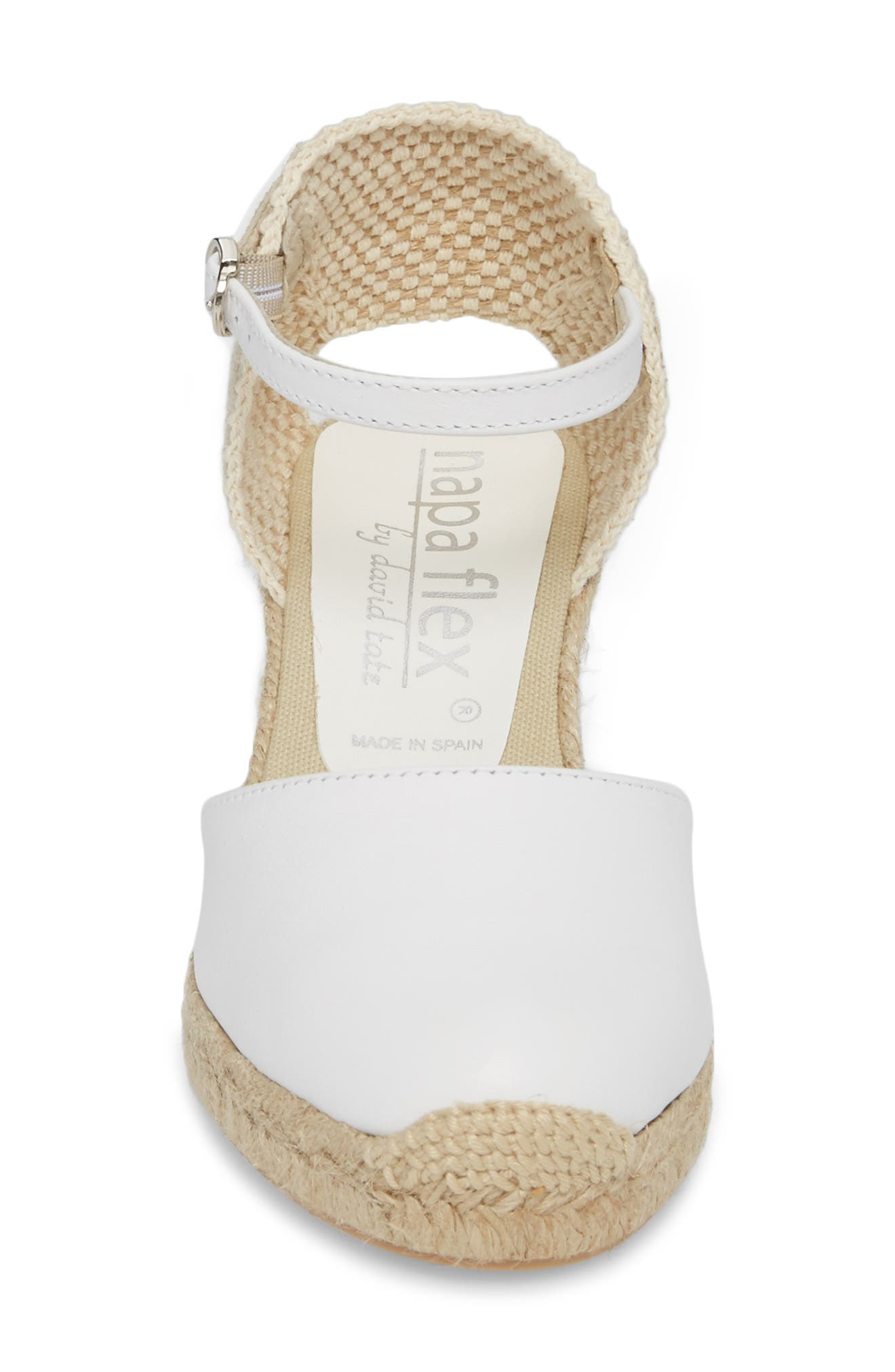 NAPA FLEX,                             Europa Wedge Sandal,                             Alternate thumbnail 4, color,                             100