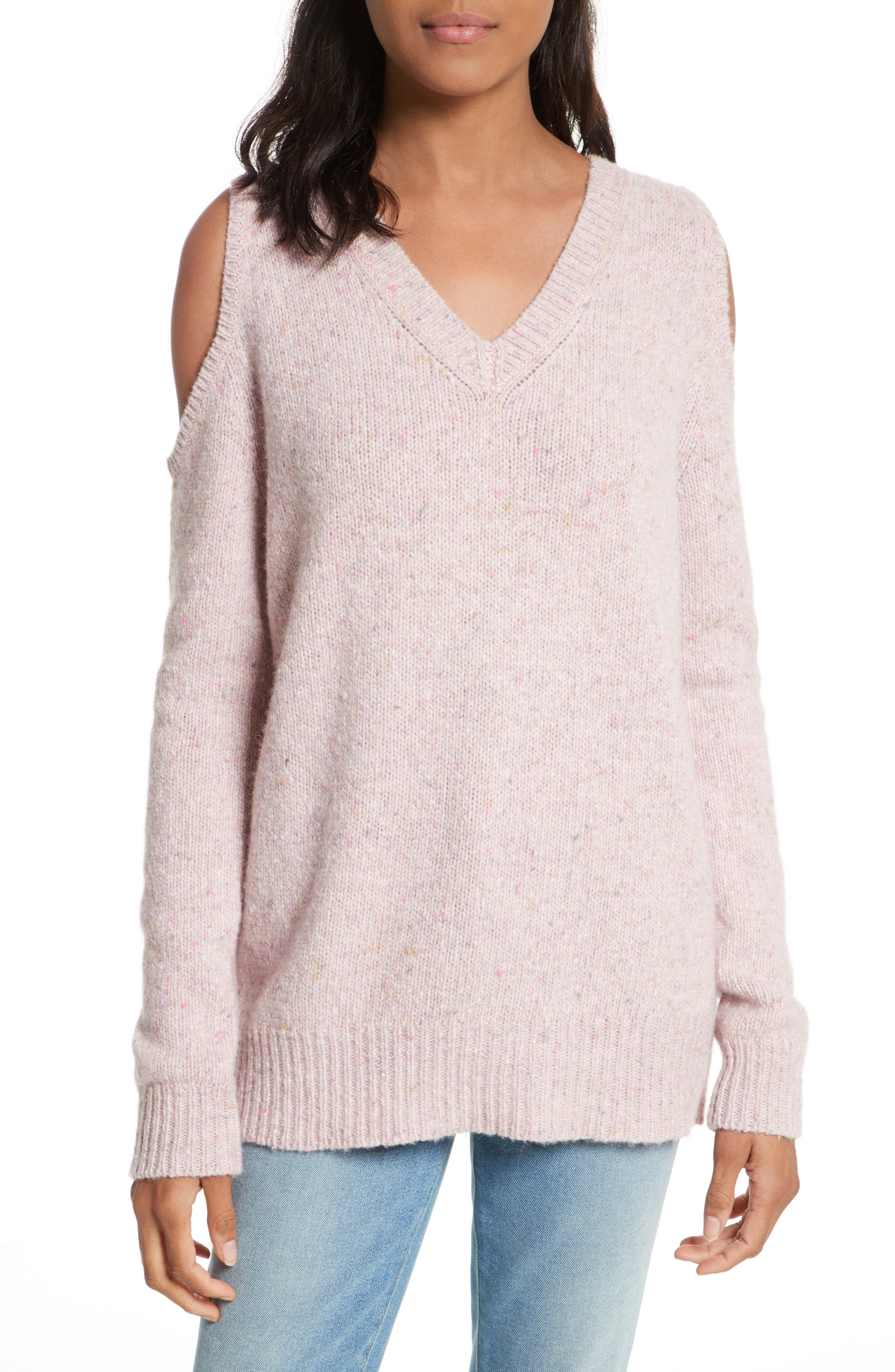 Page Cold Shoulder Sweater,                             Main thumbnail 6, color,
