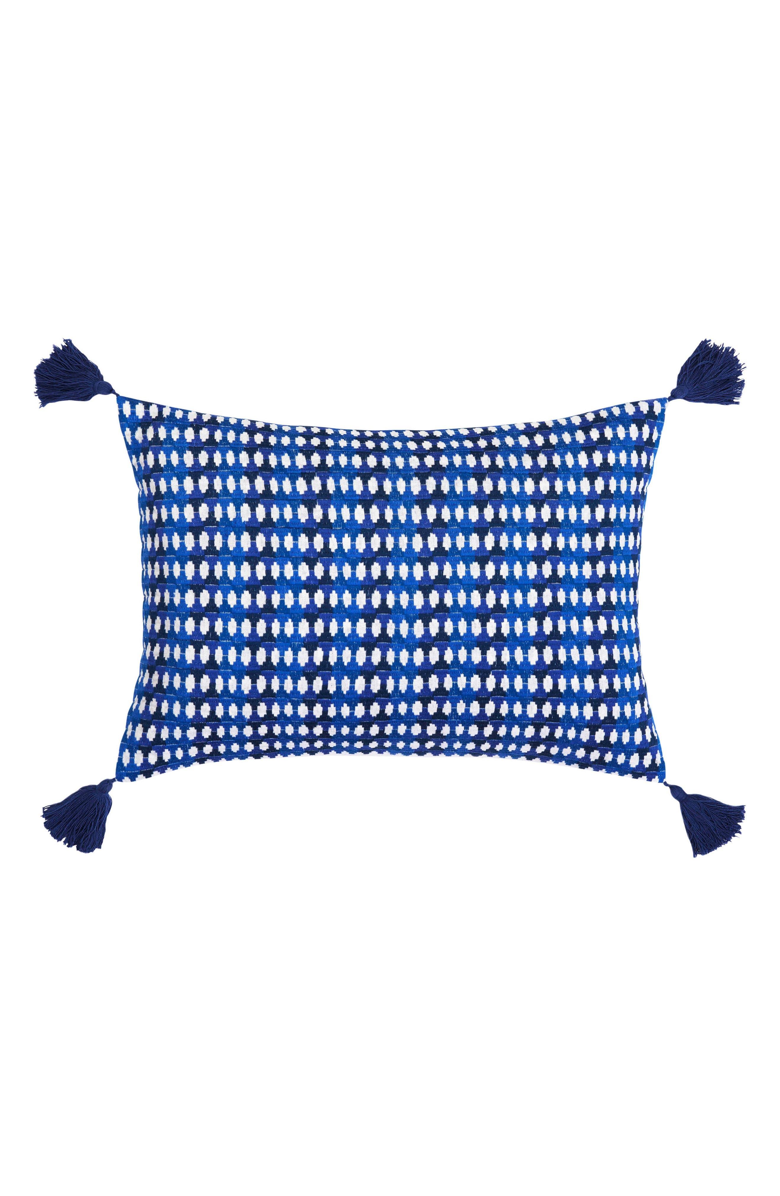 Samba de Roda Accent Pillow,                         Main,                         color, DARK BLUE