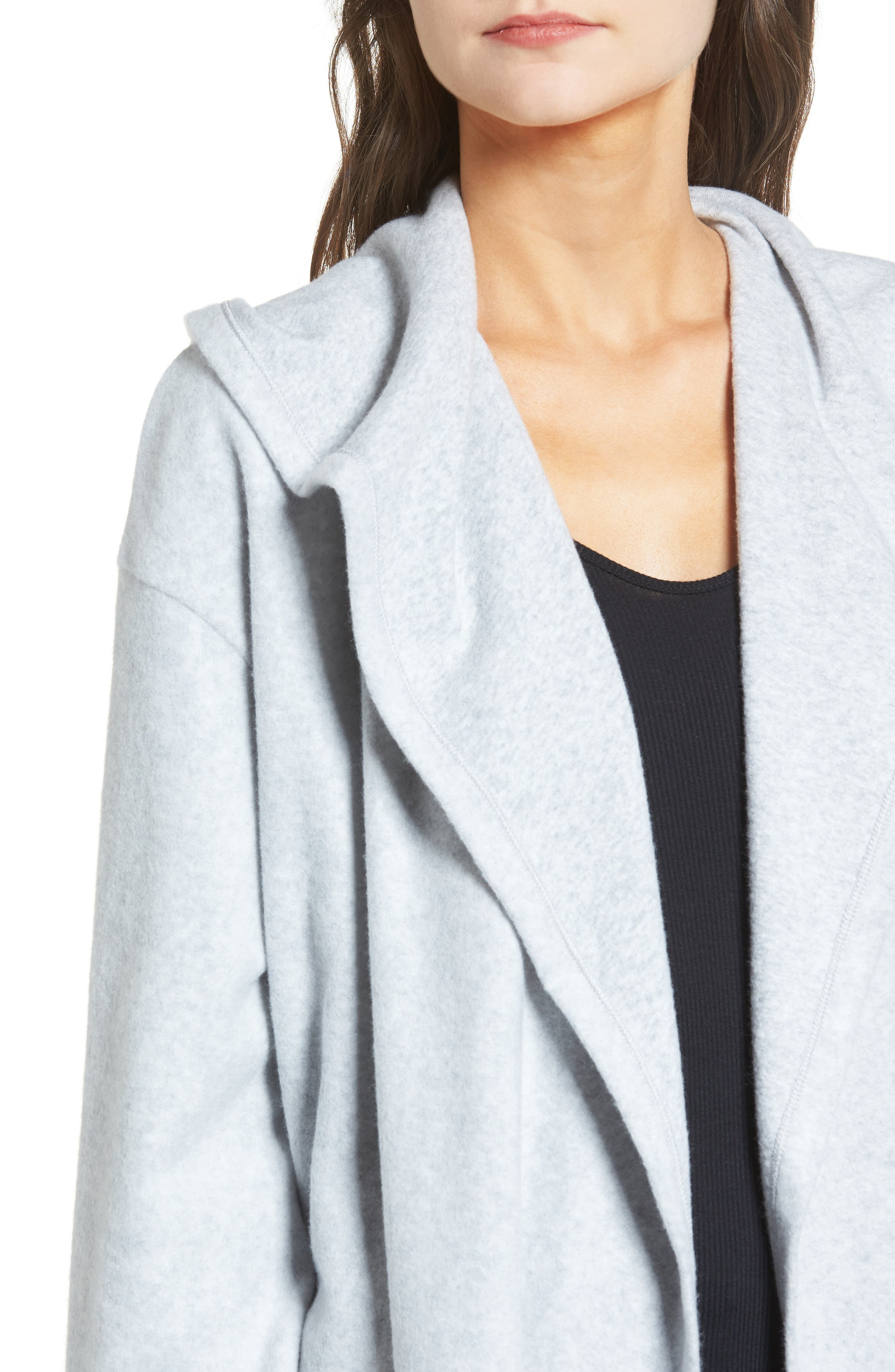 Hooded Open Front Cardigan,                             Alternate thumbnail 4, color,
