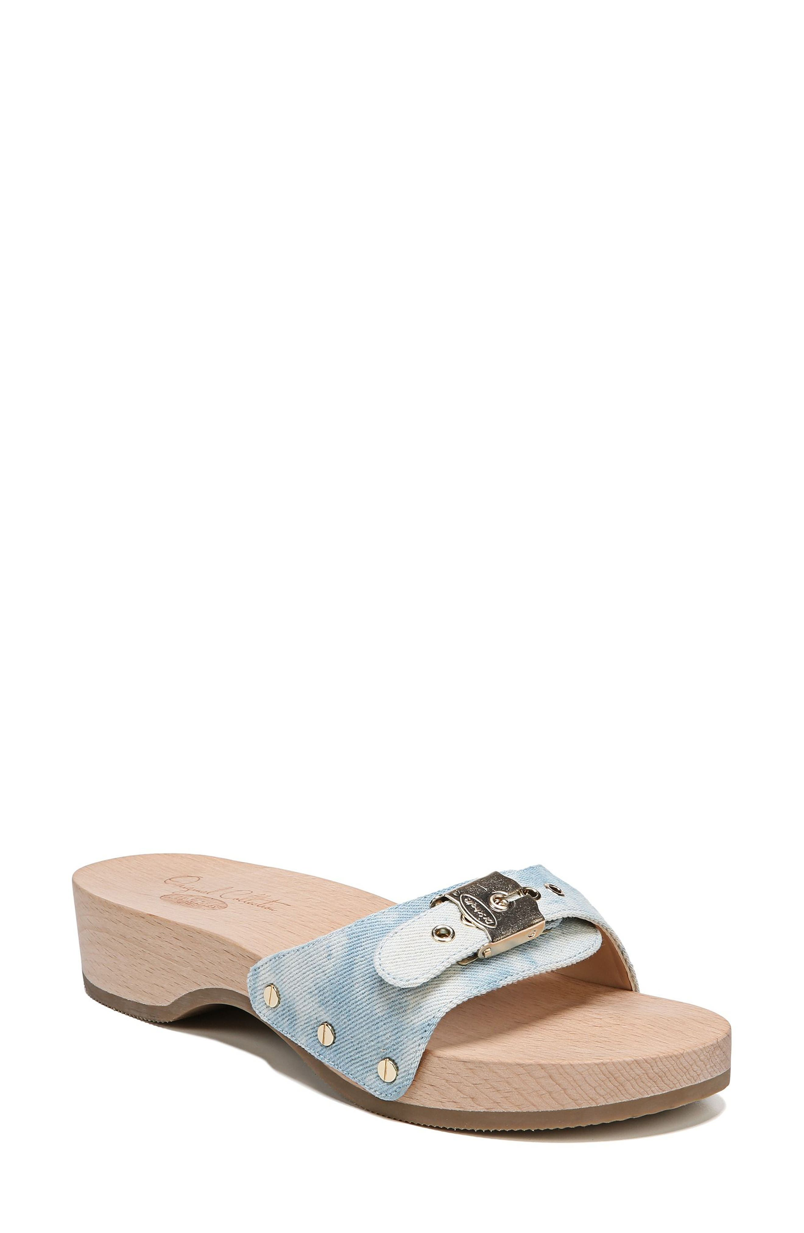 Original Collection 'Original Footbed' Sandal,                             Main thumbnail 1, color,                             DENIM FABRIC
