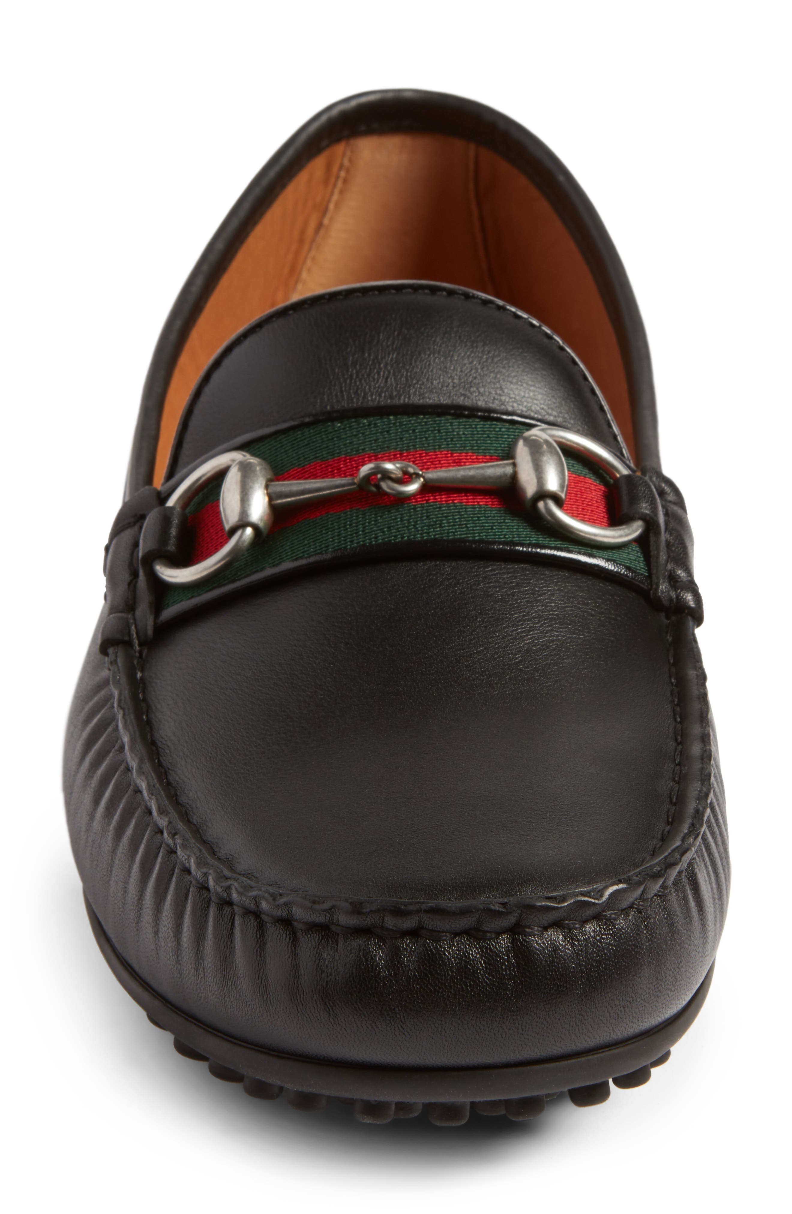 Kanye Bit Loafer,                             Alternate thumbnail 4, color,                             NERO LEATHER