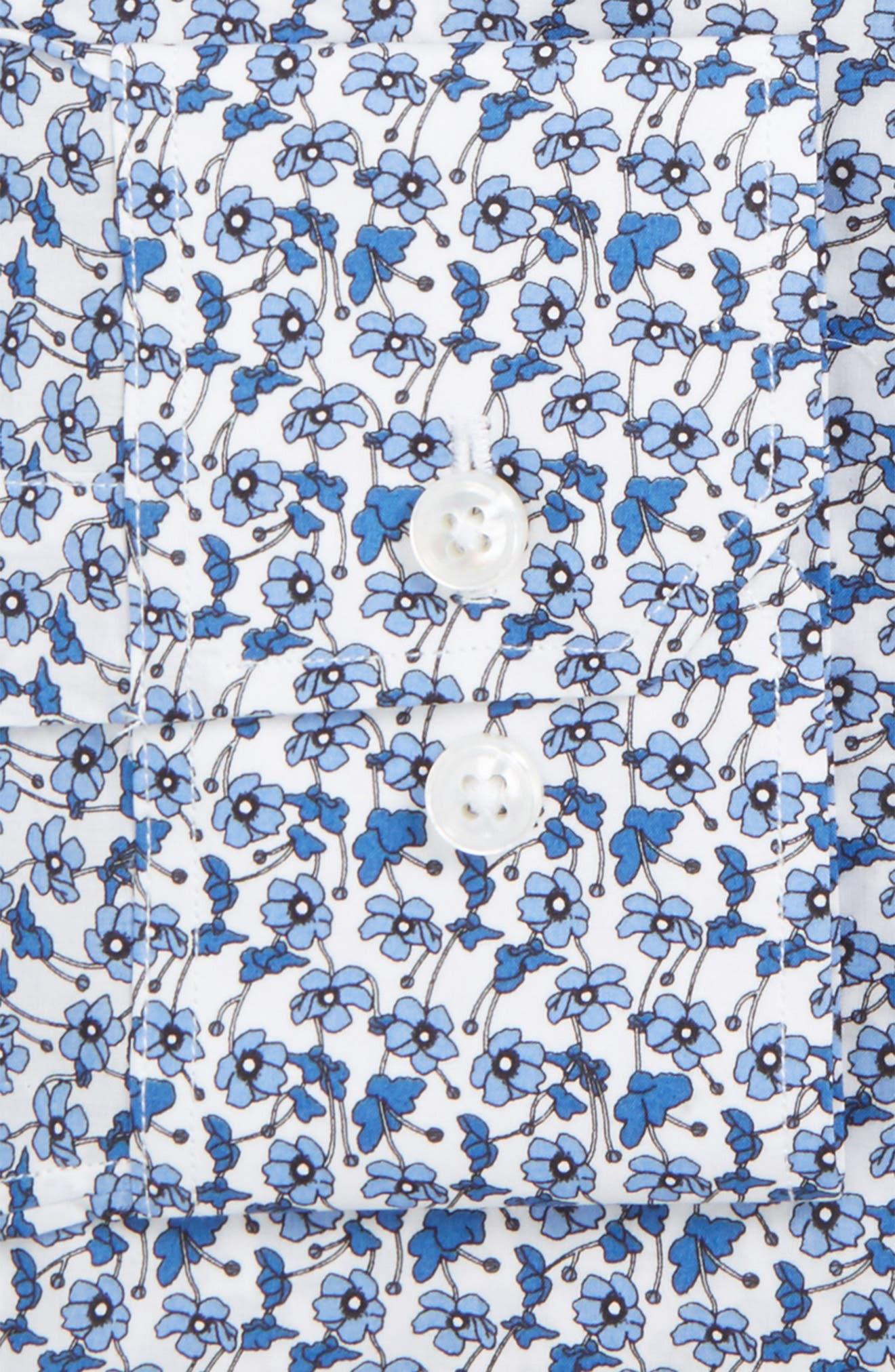 Americano Slim Fit Floral Dress Shirt,                         Main,                         color, 400