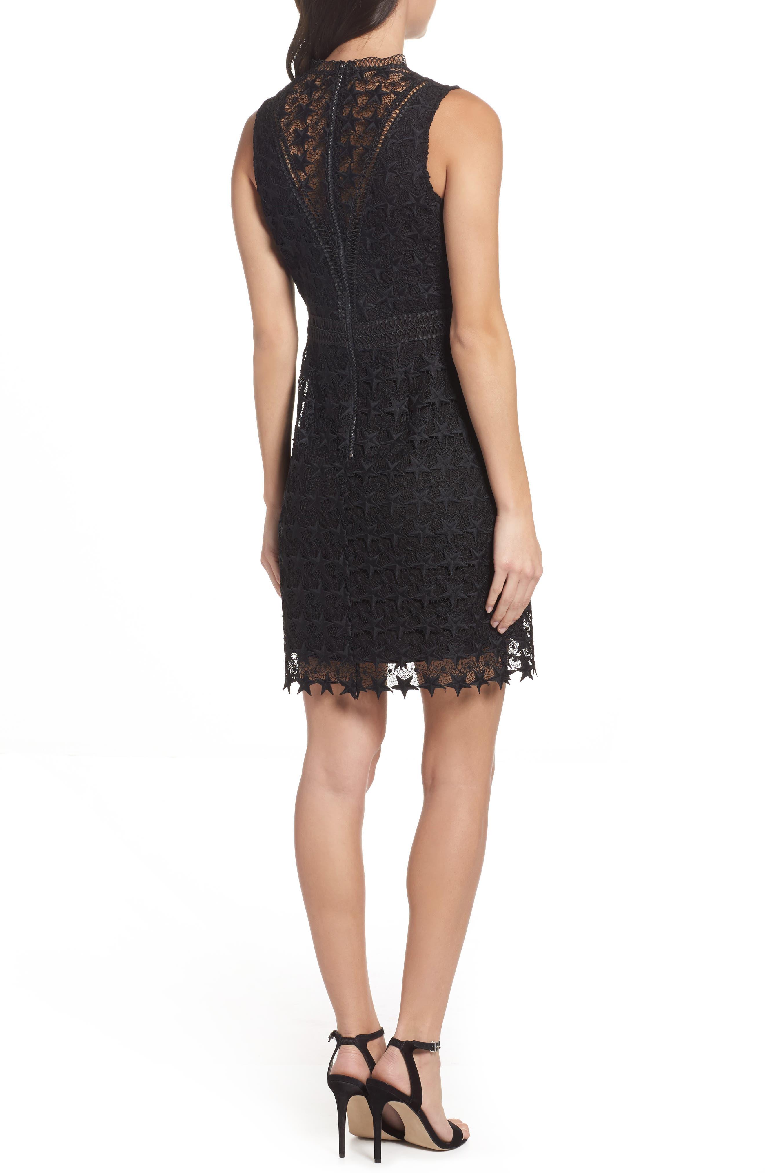 Star Lace Sheath Dress,                             Alternate thumbnail 2, color,
