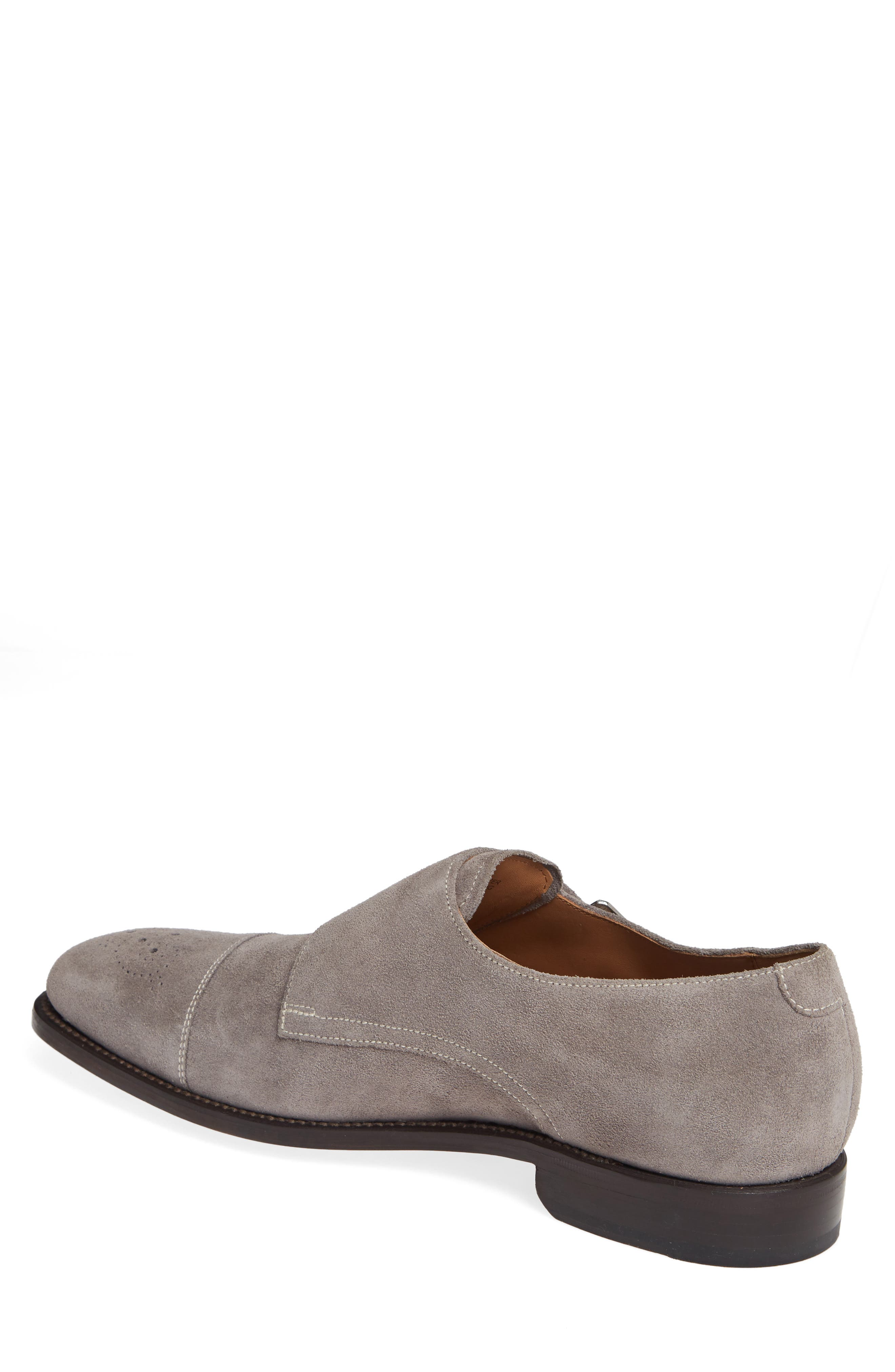 Sausalito Double Monk Strap Shoe,                             Alternate thumbnail 2, color,                             GREY SUEDE