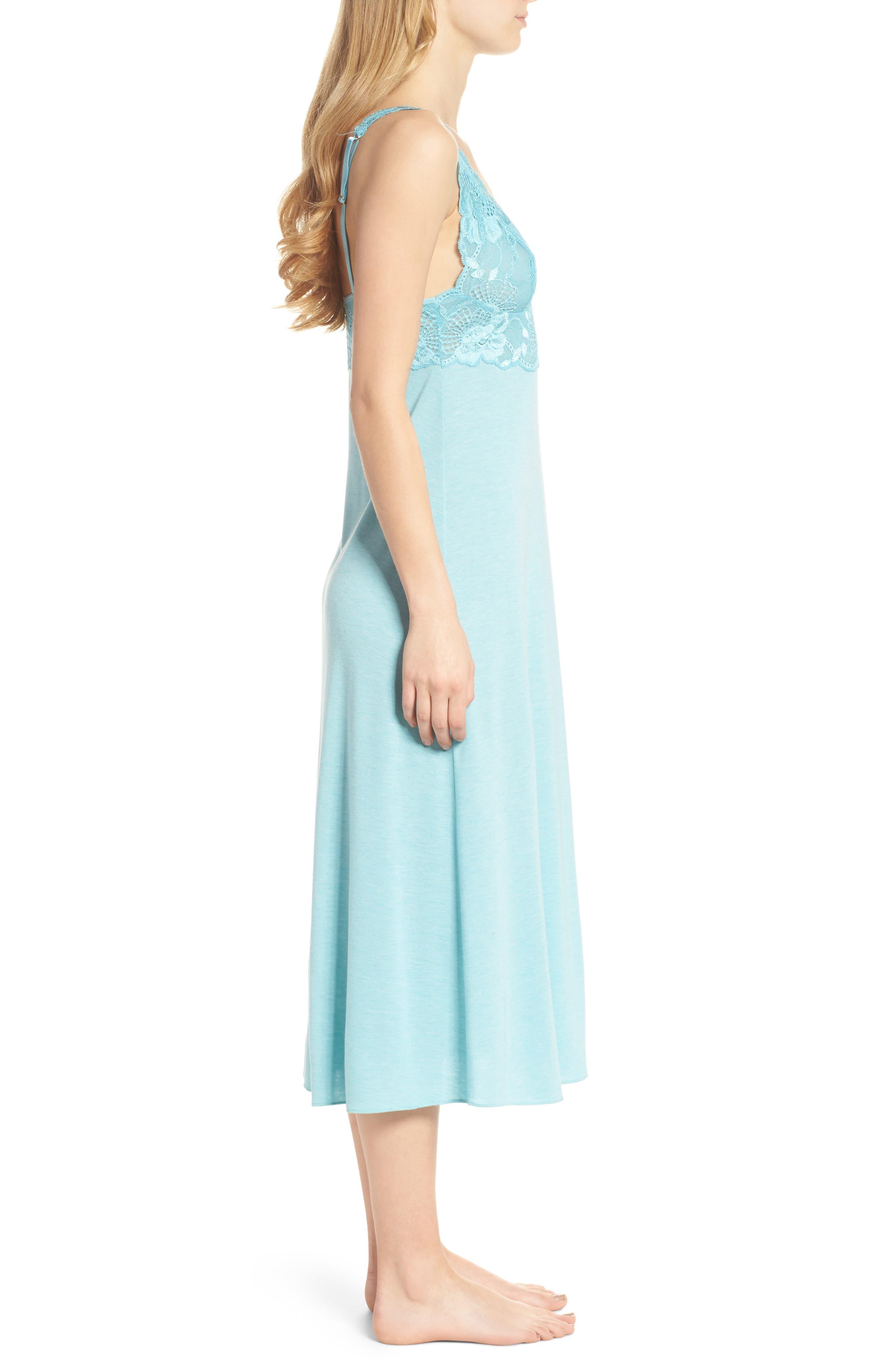 'Zen Floral' Nightgown,                             Alternate thumbnail 3, color,                             420