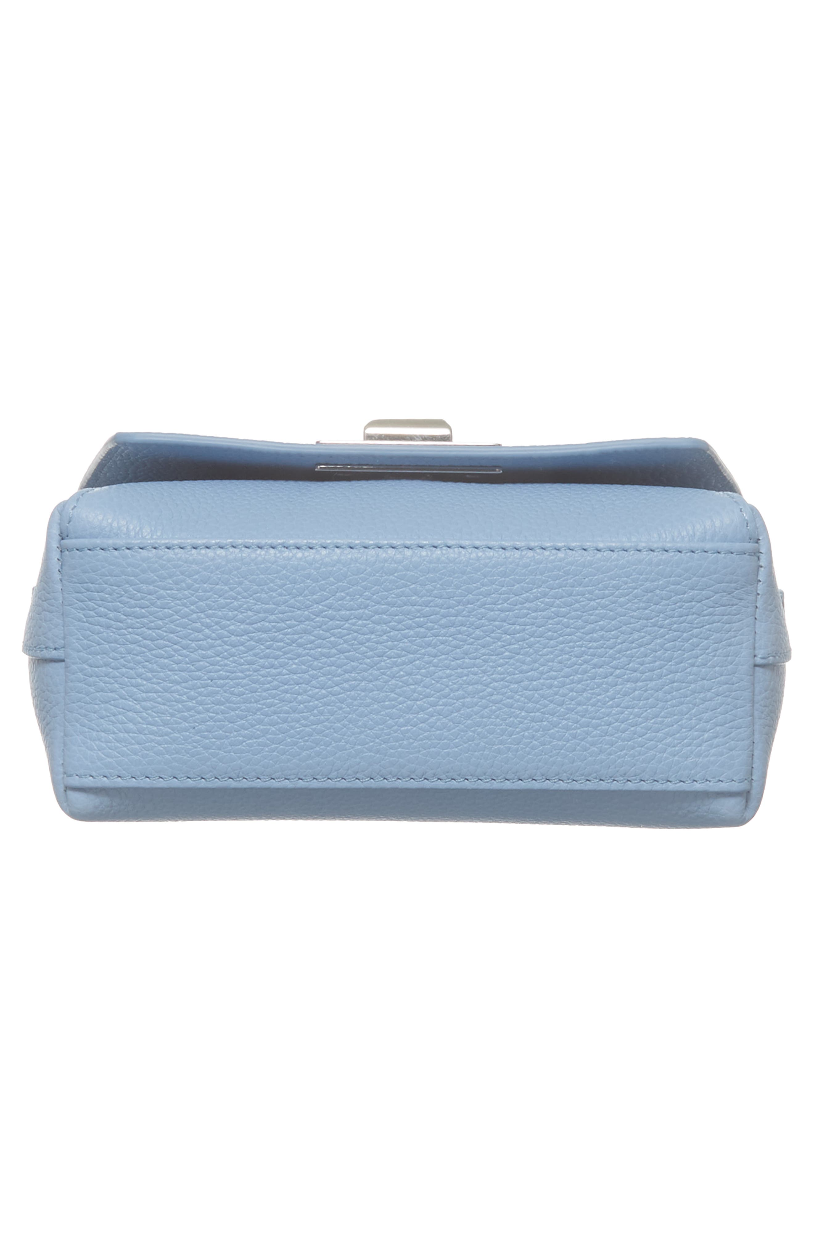 Little Anouk Calfskin Crossbody Bag,                             Alternate thumbnail 7, color,                             POWDER BLUE