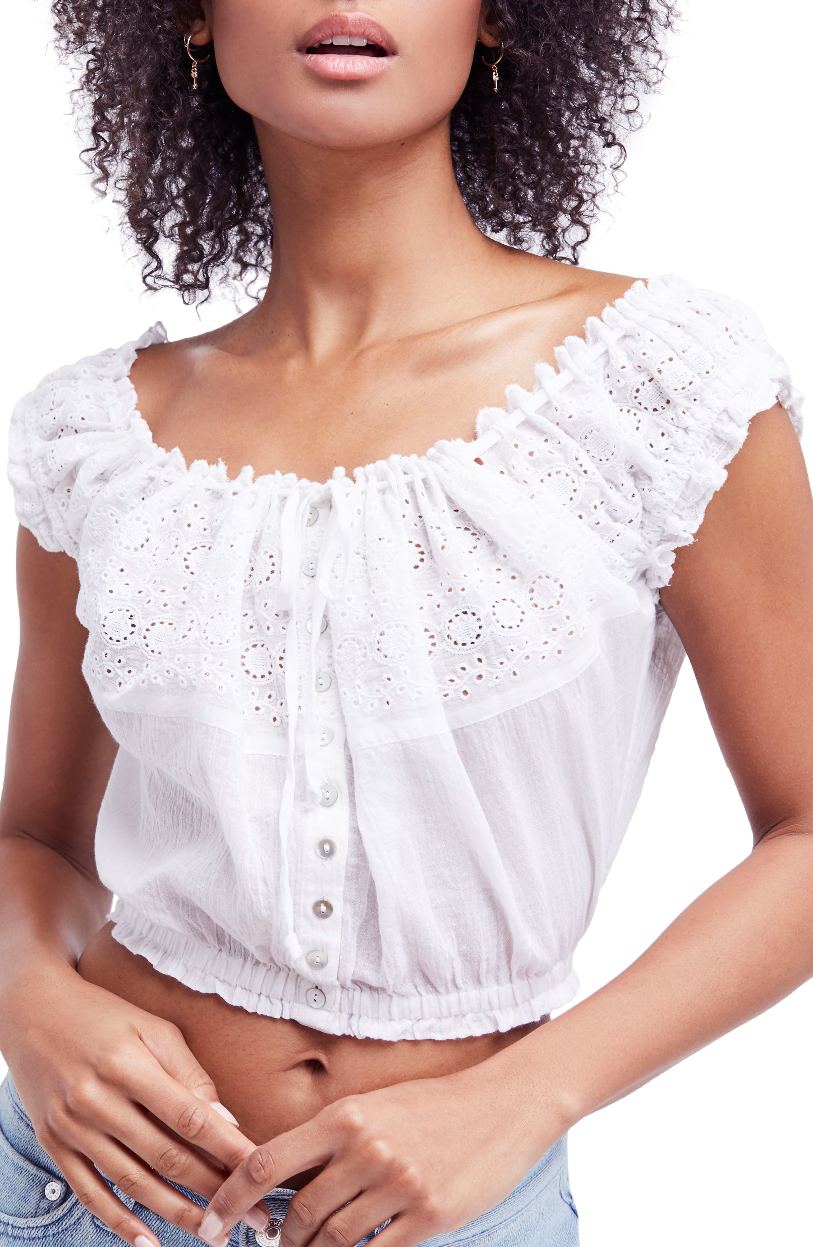 Eyelet You a Lot Top,                         Main,                         color, 100