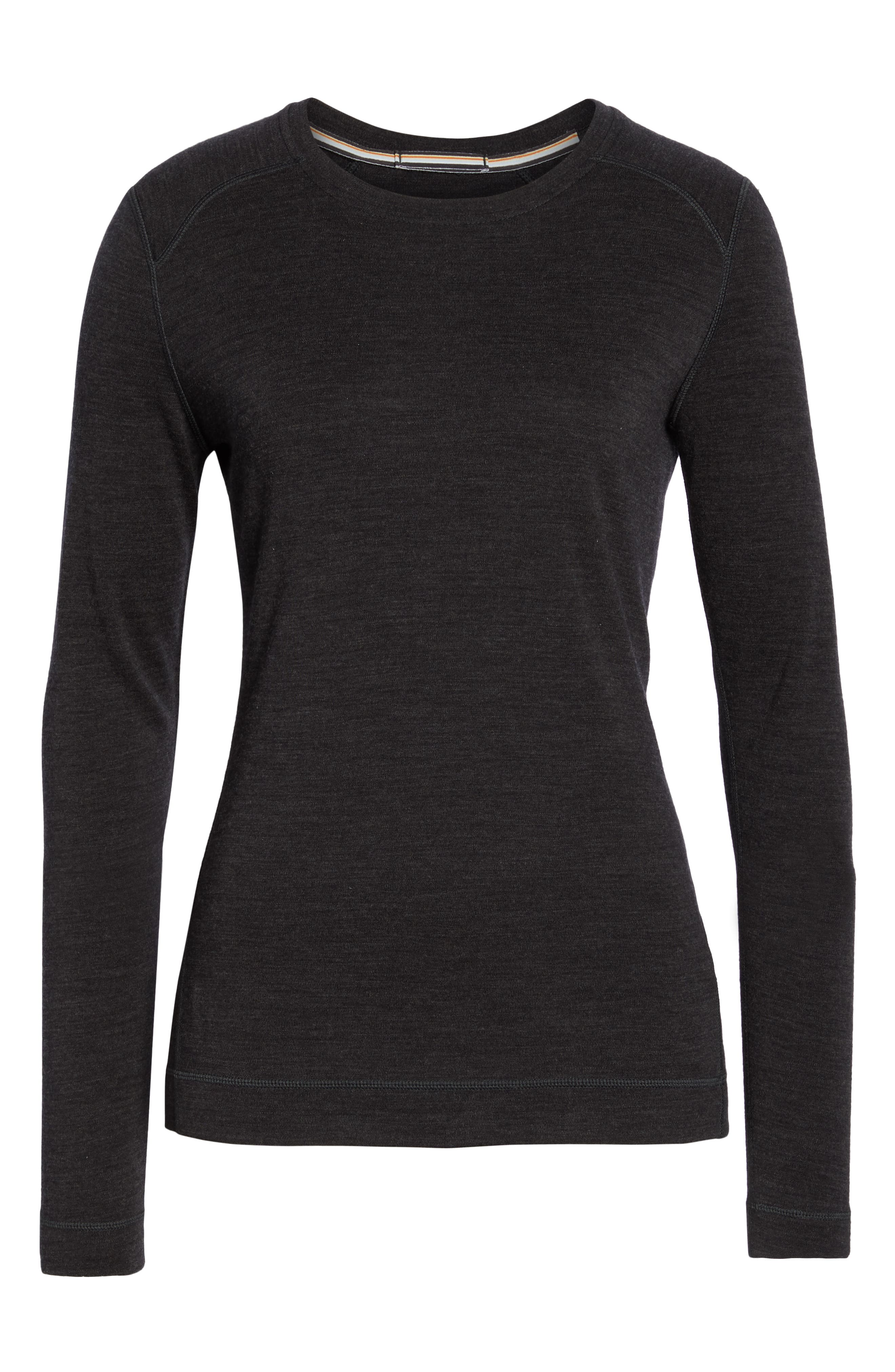 Merino 250 Base Layer Crew Top,                             Alternate thumbnail 7, color,                             CHARCOAL HEATHER