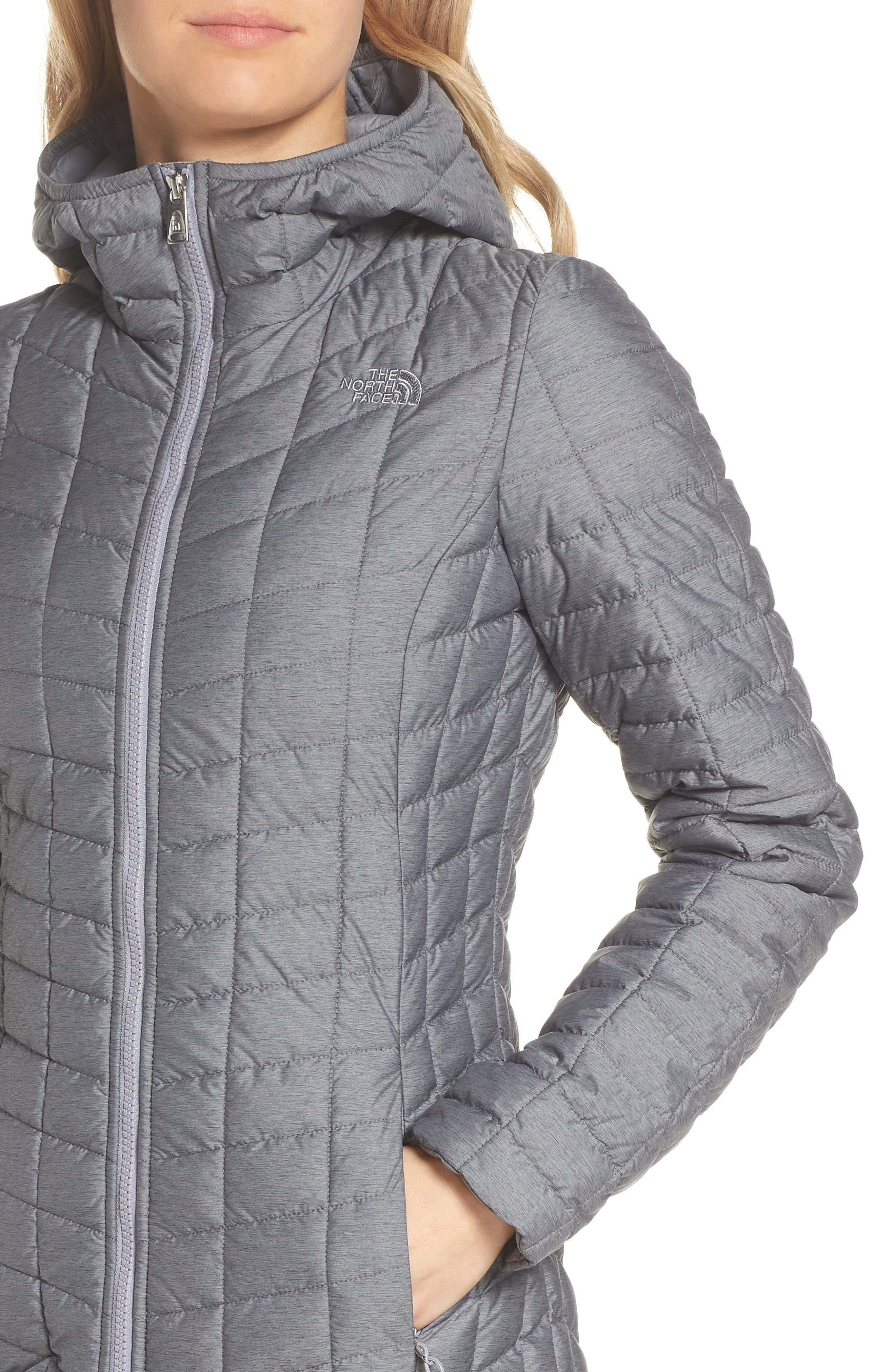 THE NORTH FACE,                             ThermoBall<sup>™</sup> Insulated Hooded Parka,                             Alternate thumbnail 4, color,                             033