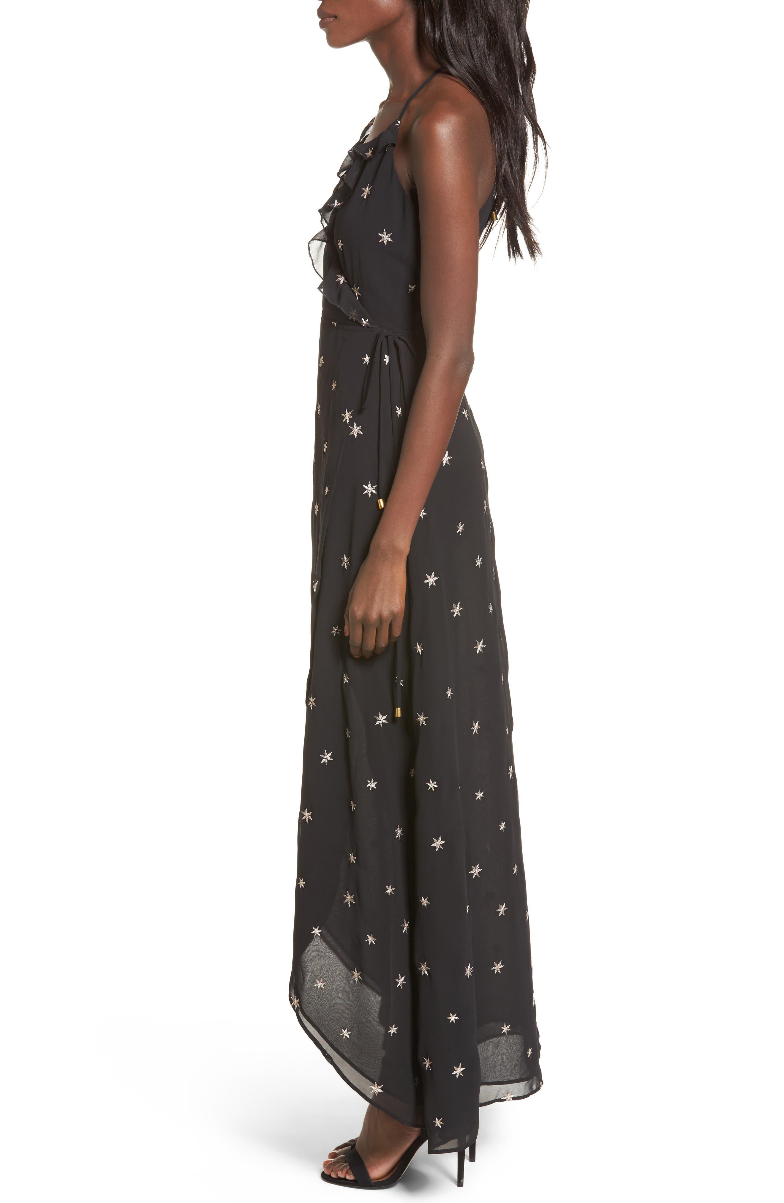 Nostalgia Maxi Dress,                             Alternate thumbnail 3, color,                             001