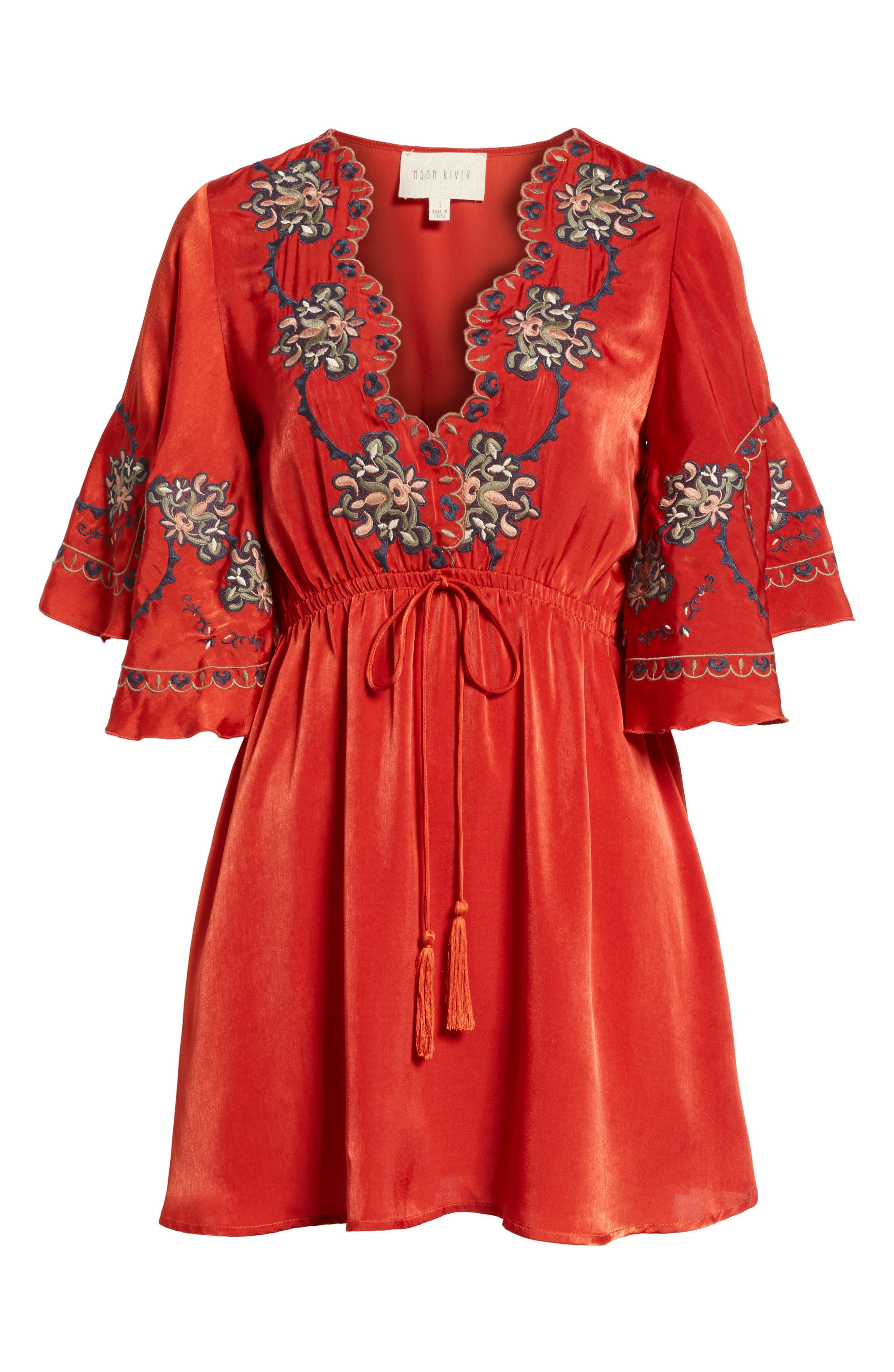 Embroidered Babydoll Dress,                             Alternate thumbnail 6, color,                             650