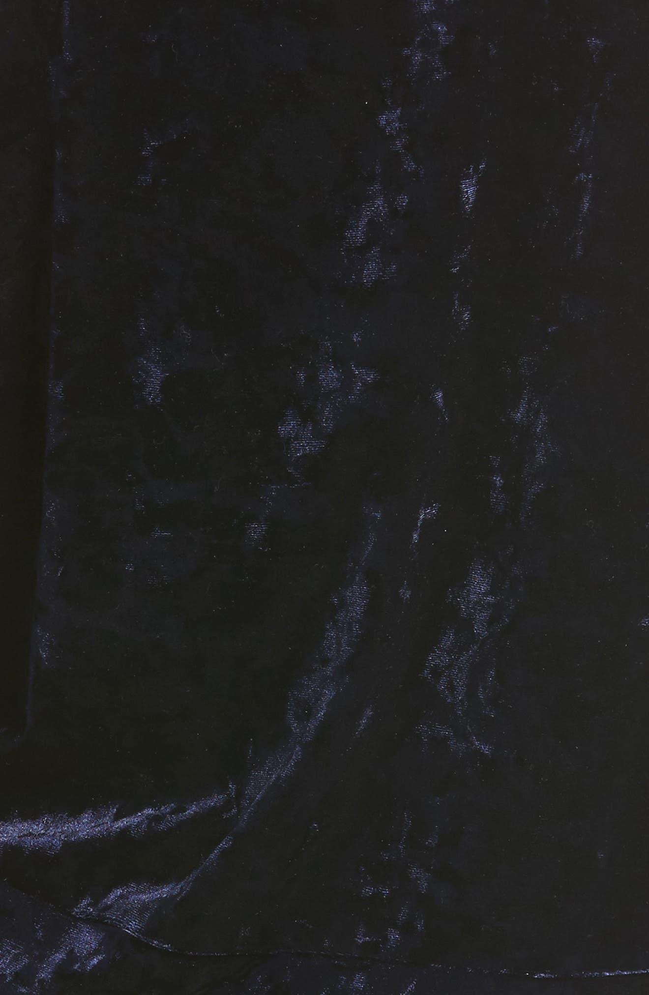Crushed Velvet Cold Shoulder Sweatshirt,                             Alternate thumbnail 5, color,                             412