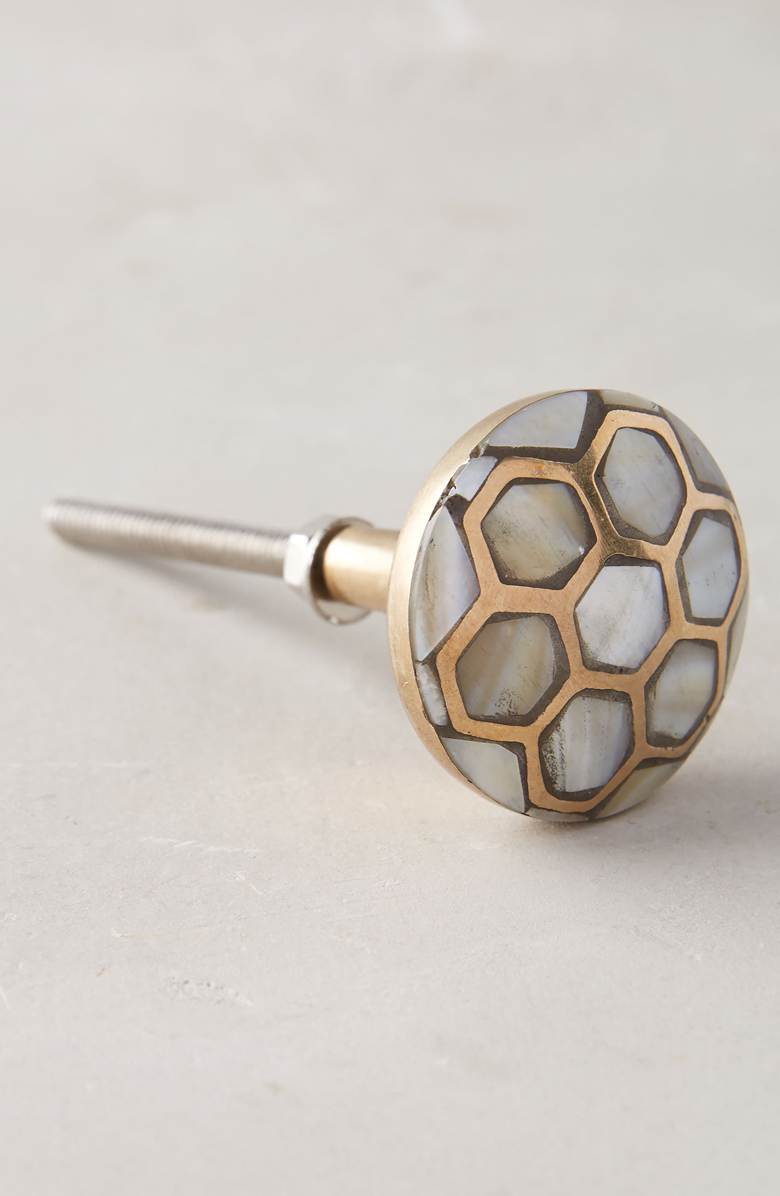 Serpentine Mother of Pearl Knob,                             Alternate thumbnail 2, color,                             250