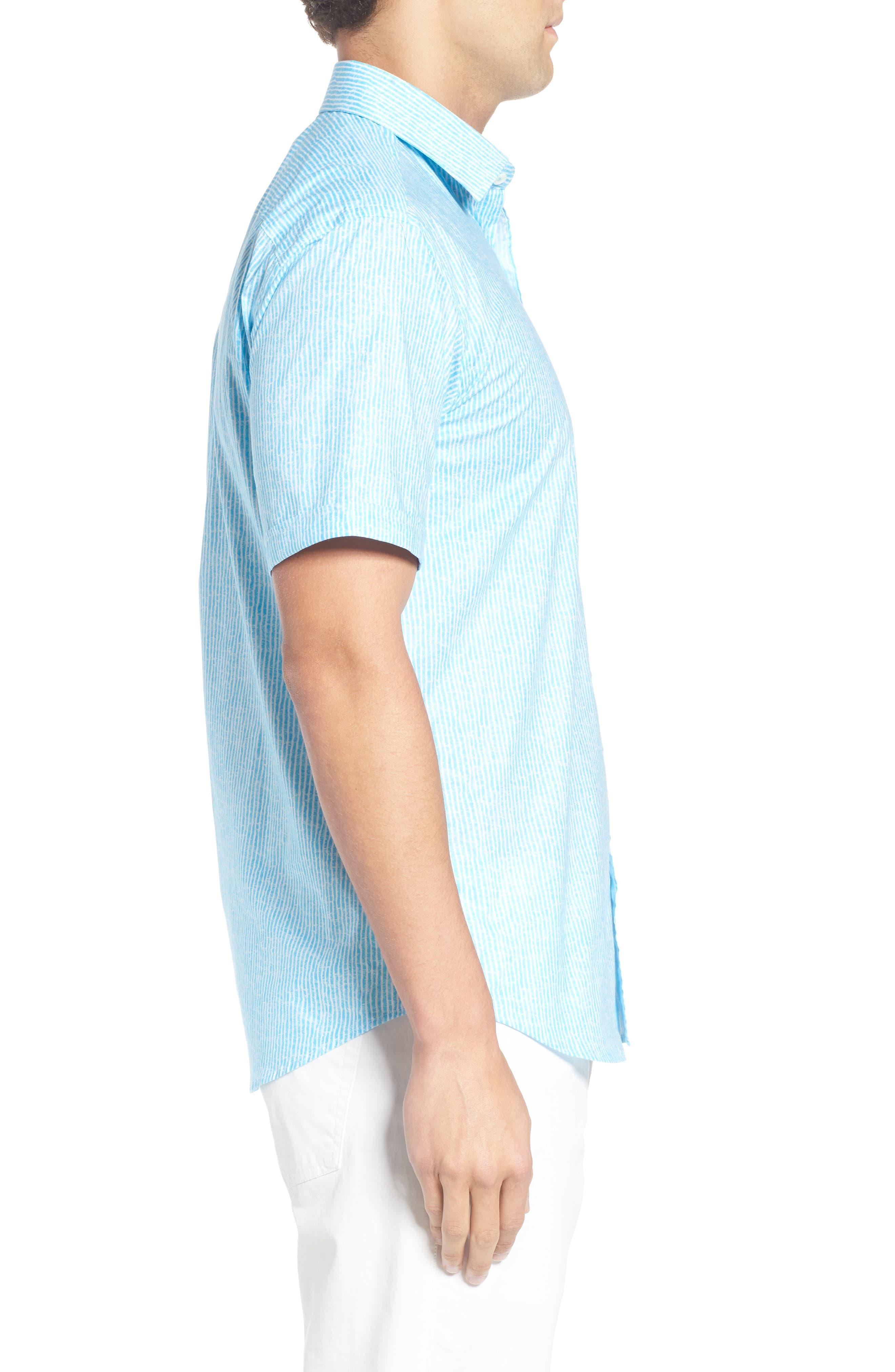 Shaped Fit Stripe Sport Shirt,                             Alternate thumbnail 22, color,