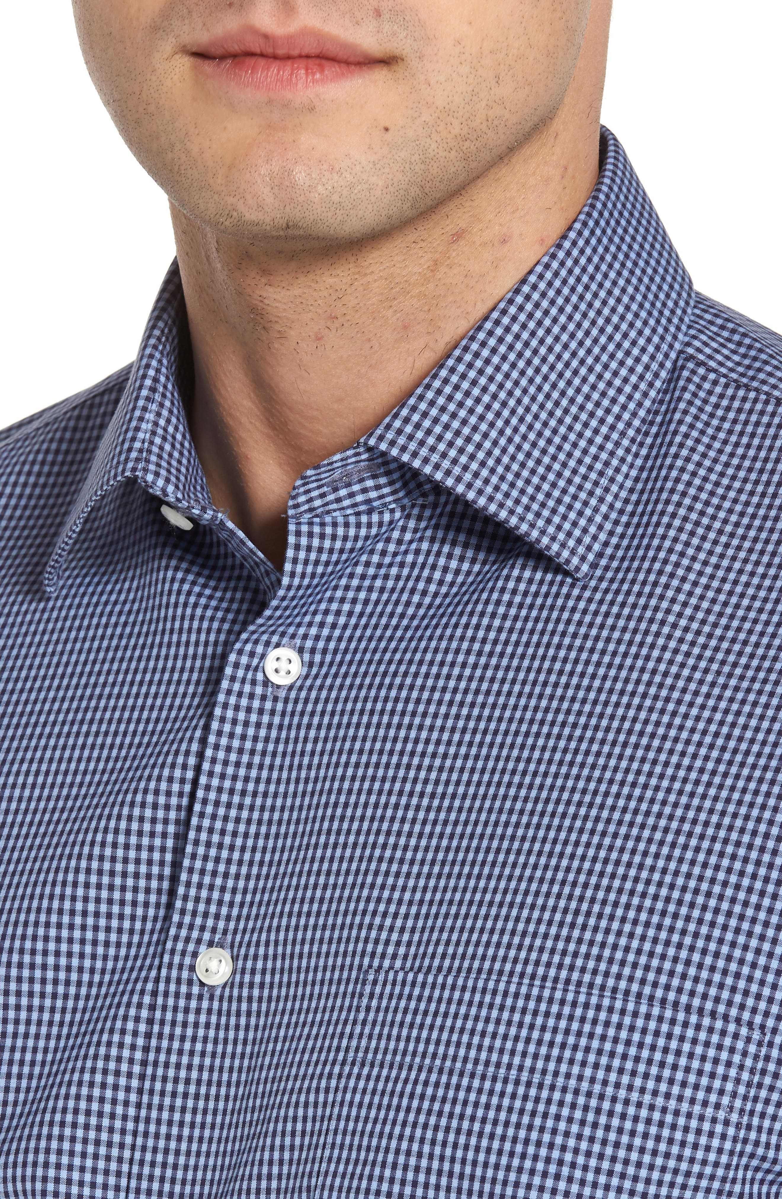 Smartcare<sup>™</sup> Traditional Fit Check Dress Shirt,                             Alternate thumbnail 6, color,