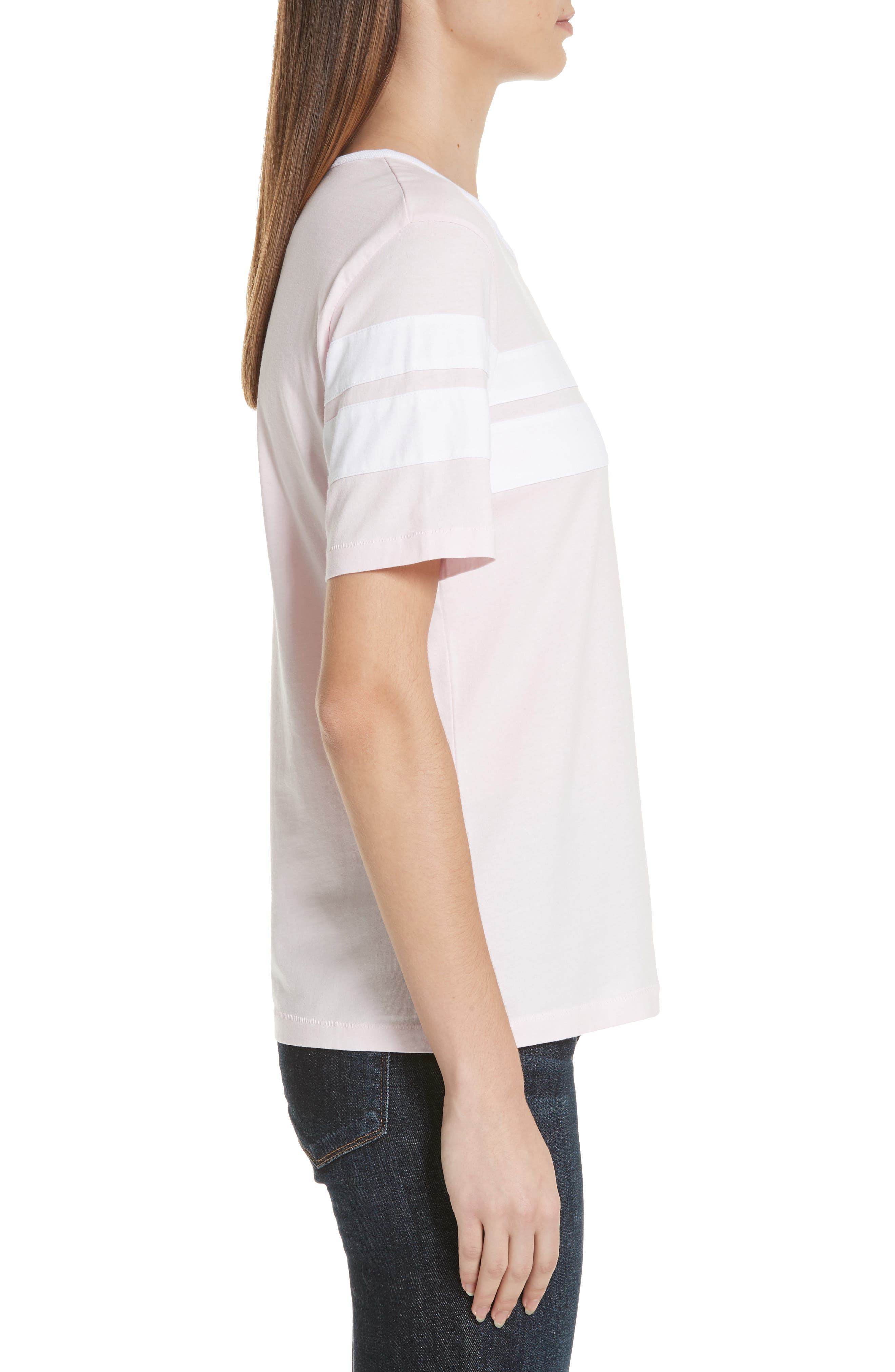 Double Stripe Cotton Tee,                             Alternate thumbnail 3, color,                             650