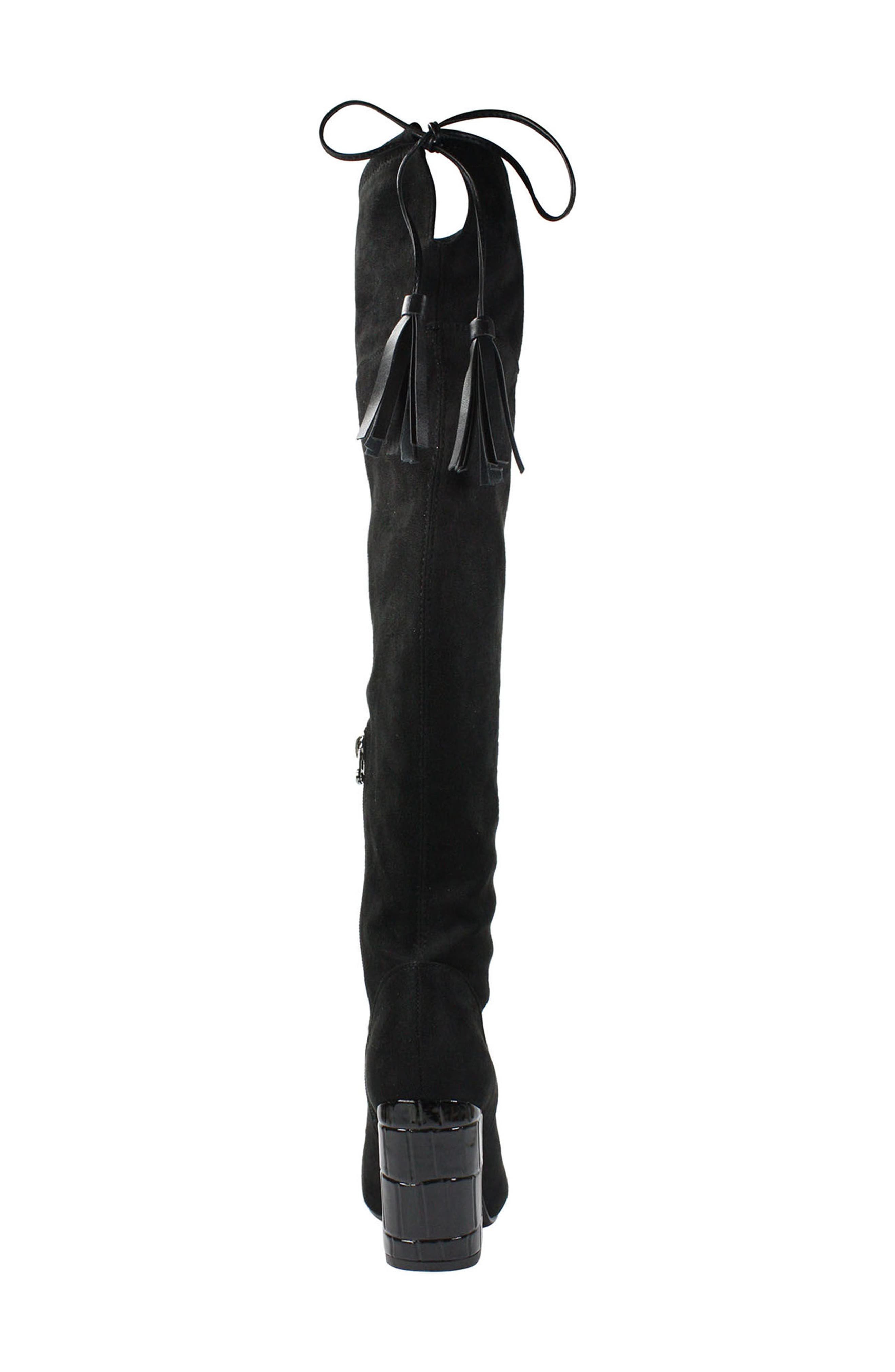 Calcari Over the Knee Boot,                             Alternate thumbnail 6, color,                             BLACK SUEDE