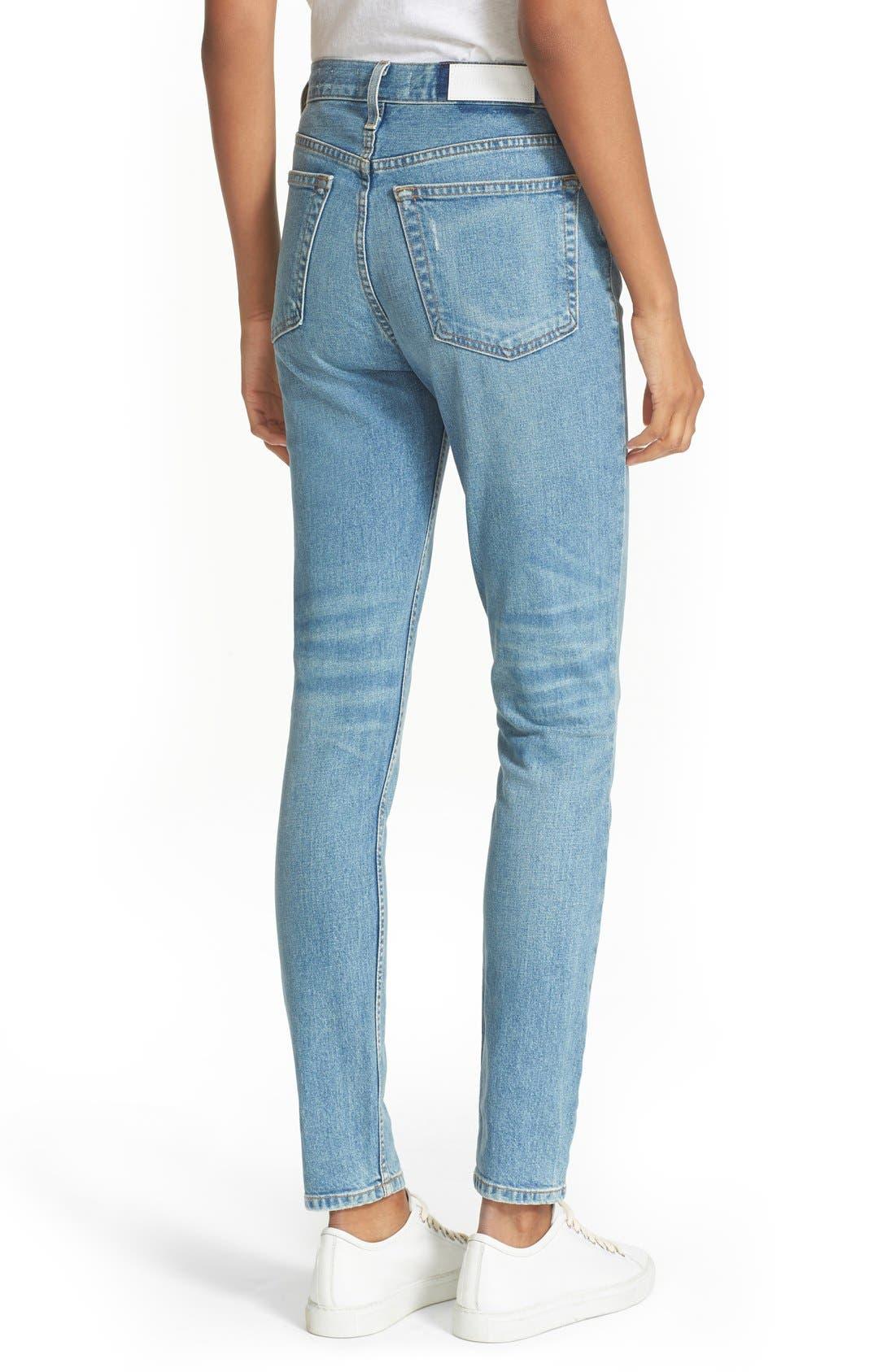 Originals High Rise Stretch Jeans,                             Alternate thumbnail 5, color,                             400