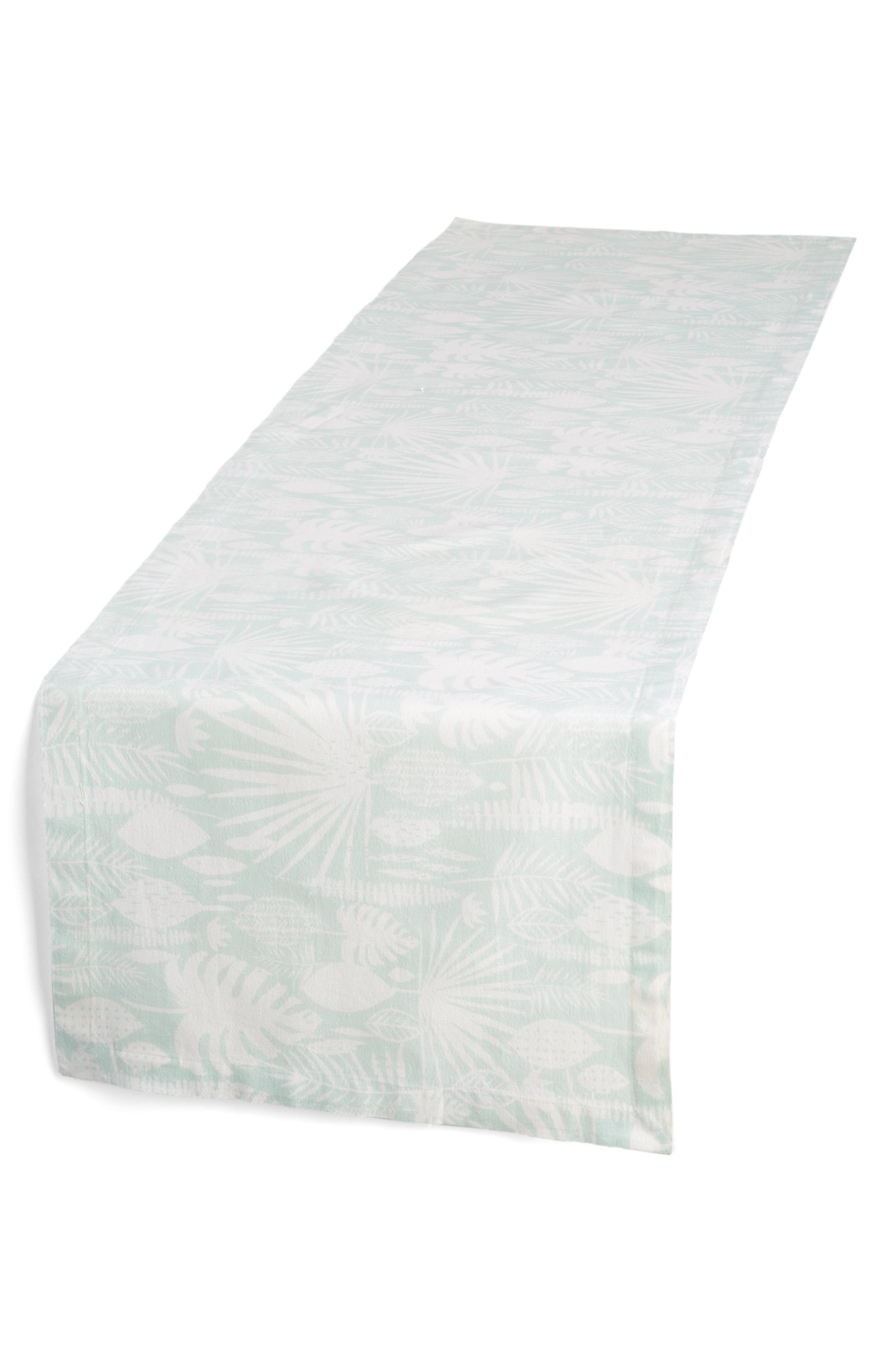 Tropical Leaves Table Runner,                             Main thumbnail 1, color,                             440