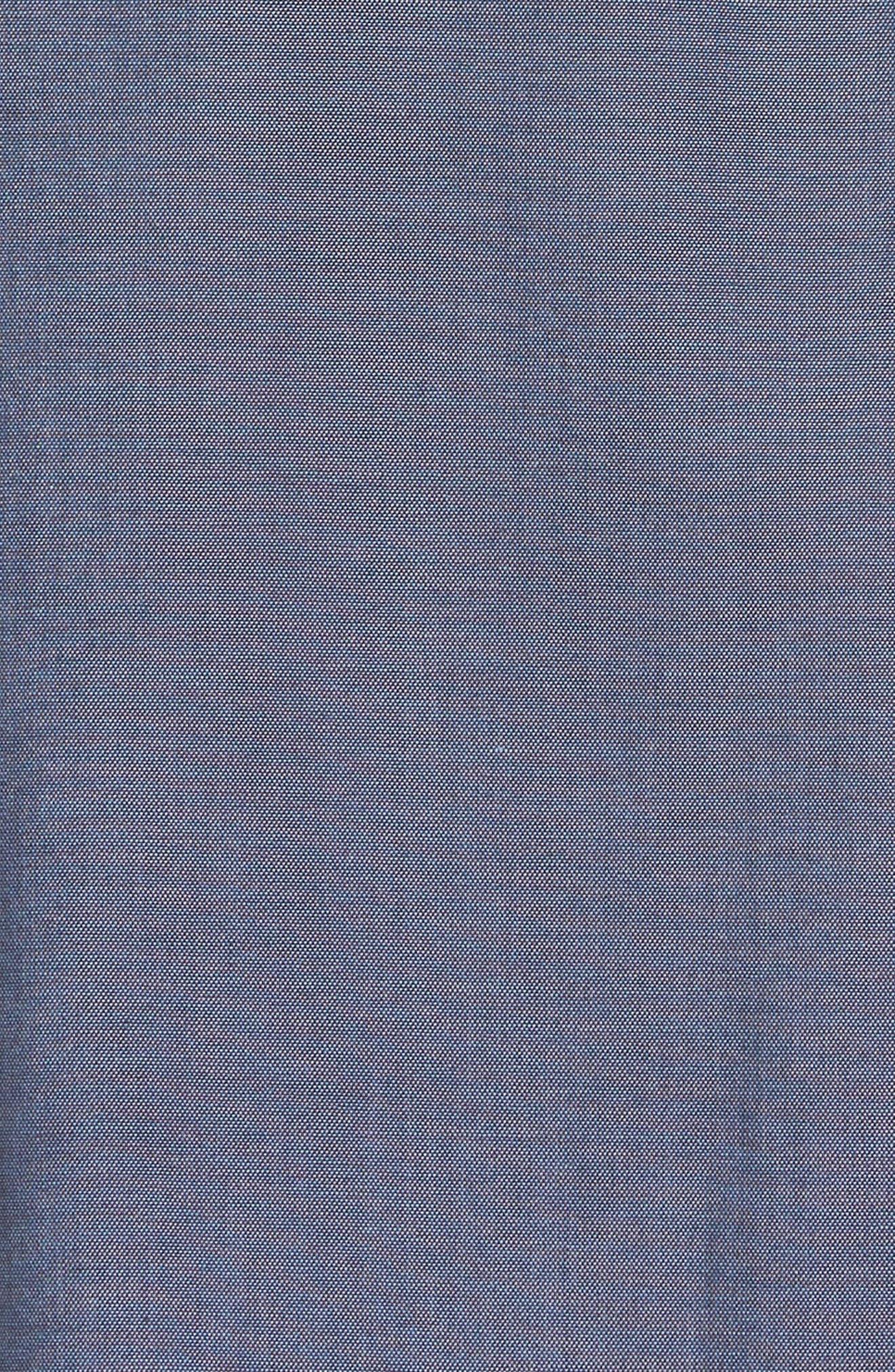Denim Faux Wrap Dress,                             Alternate thumbnail 5, color,