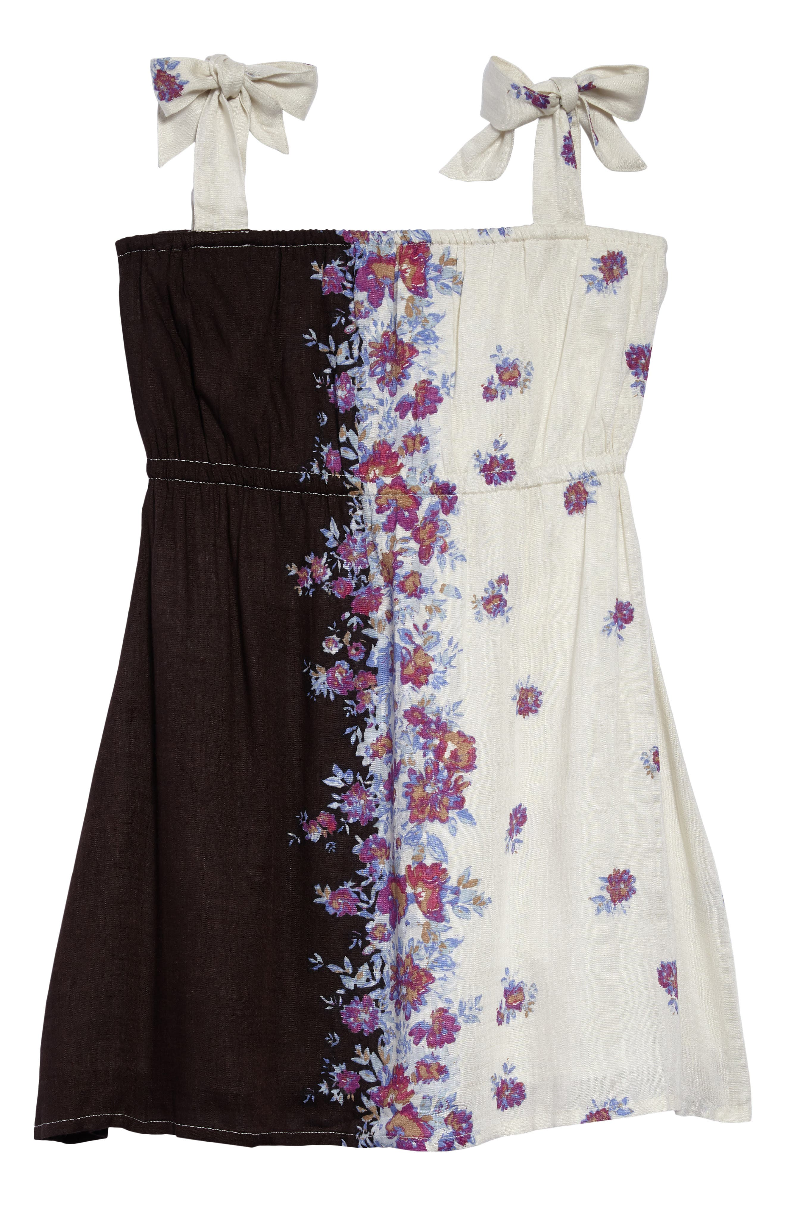 Rosy Floral Dress,                             Main thumbnail 1, color,                             MULTI COLORED