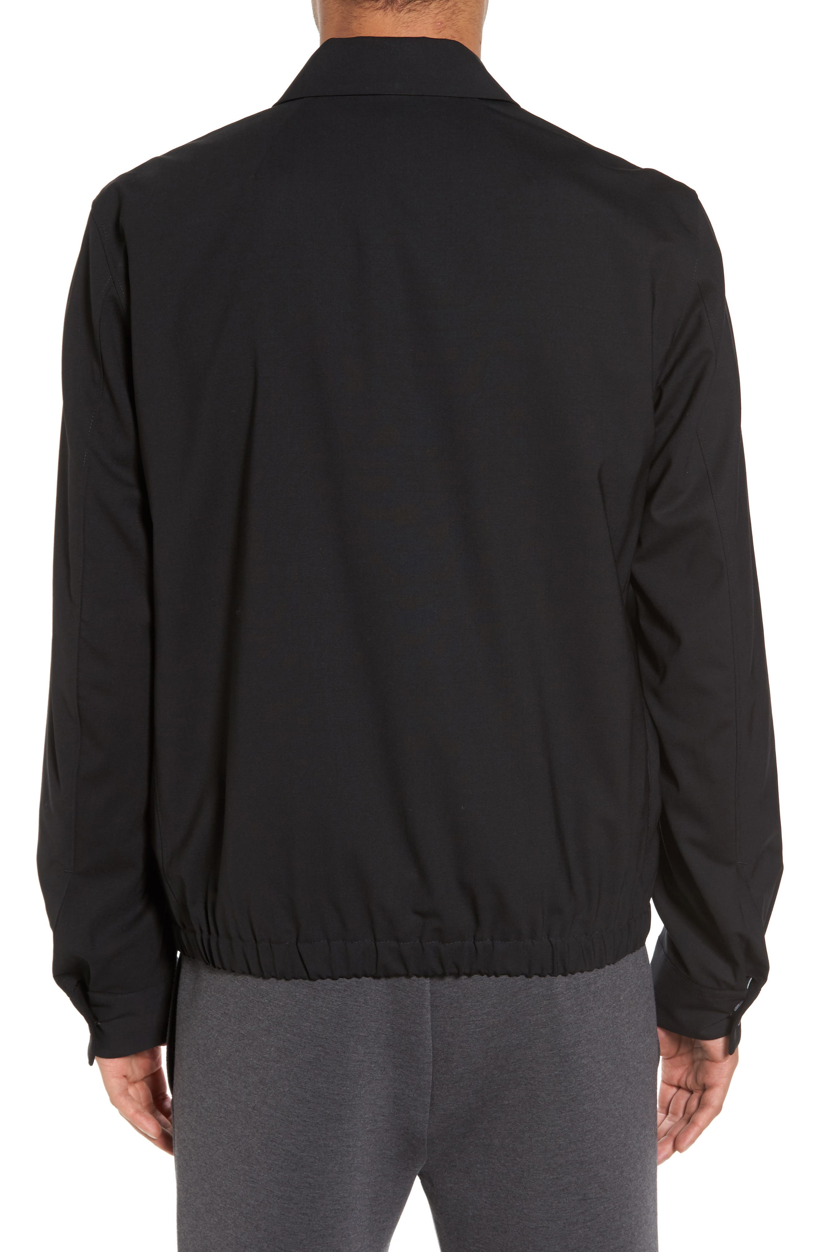 Stretch Wool Zip Front Jacket,                             Alternate thumbnail 2, color,                             001
