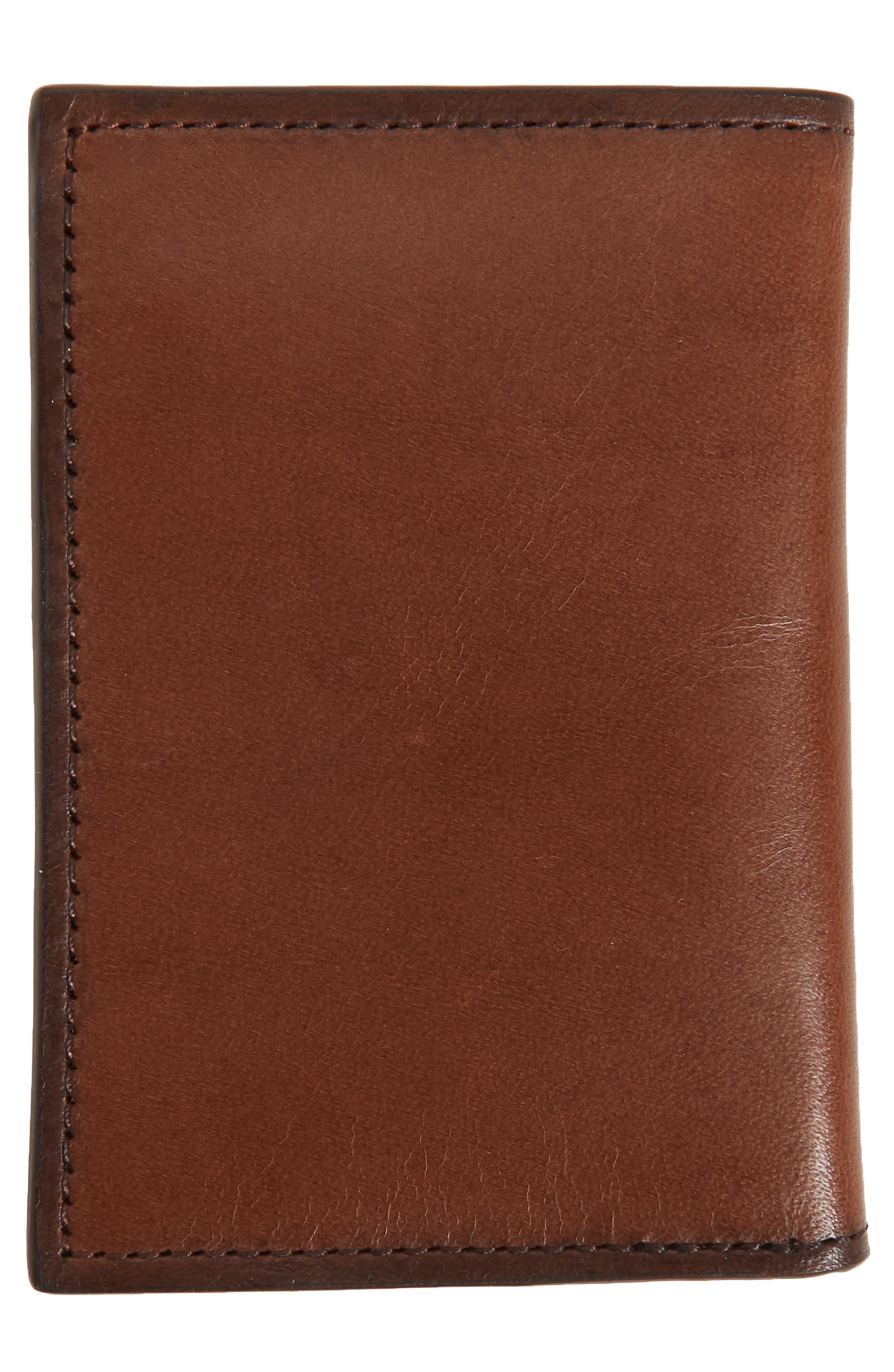 Parker Leather Bifold Card Case,                             Alternate thumbnail 6, color,