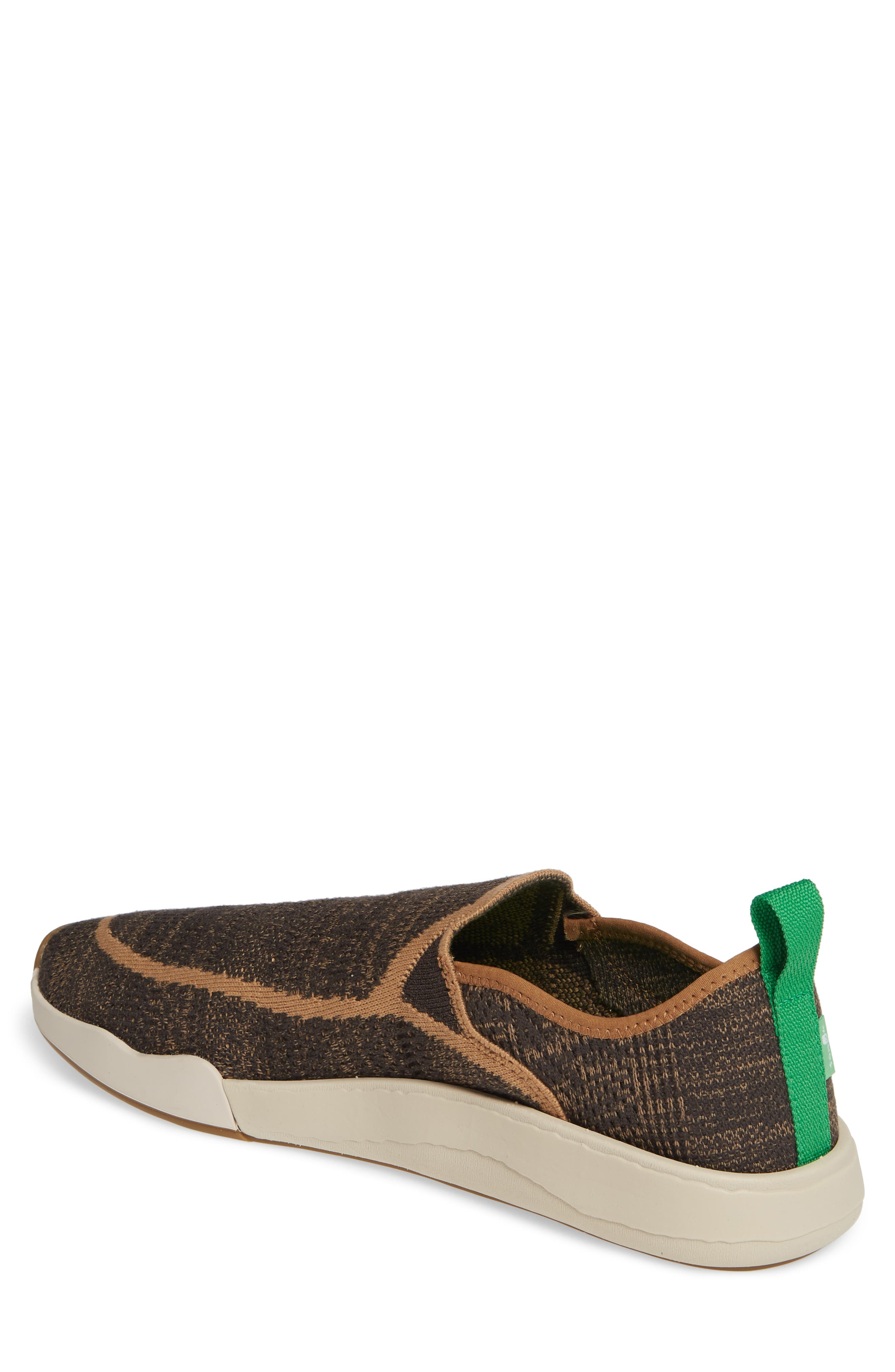 SANUK,                             Chiba Quest Knit Slip-On Sneaker,                             Alternate thumbnail 2, color,                             BROWN NATURAL