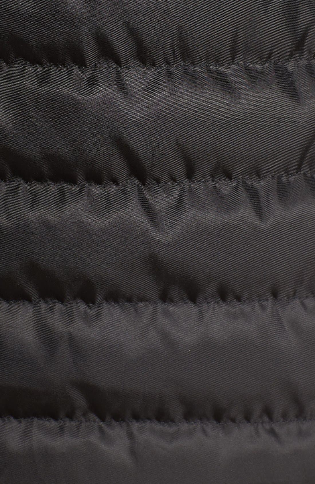 Quilted Down Coat,                             Alternate thumbnail 5, color,                             001
