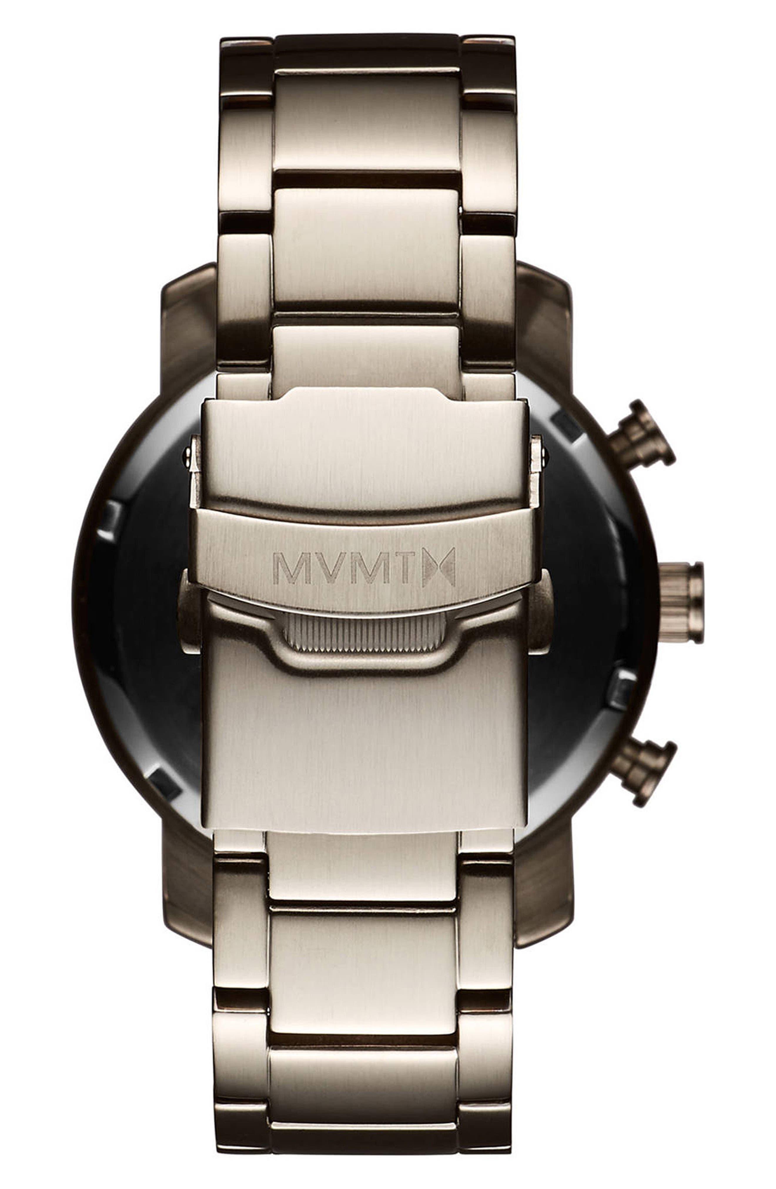 Chrono Chronograph Bracelet Watch, 40mm,                             Alternate thumbnail 2, color,                             WHITE/ GUNMETAL
