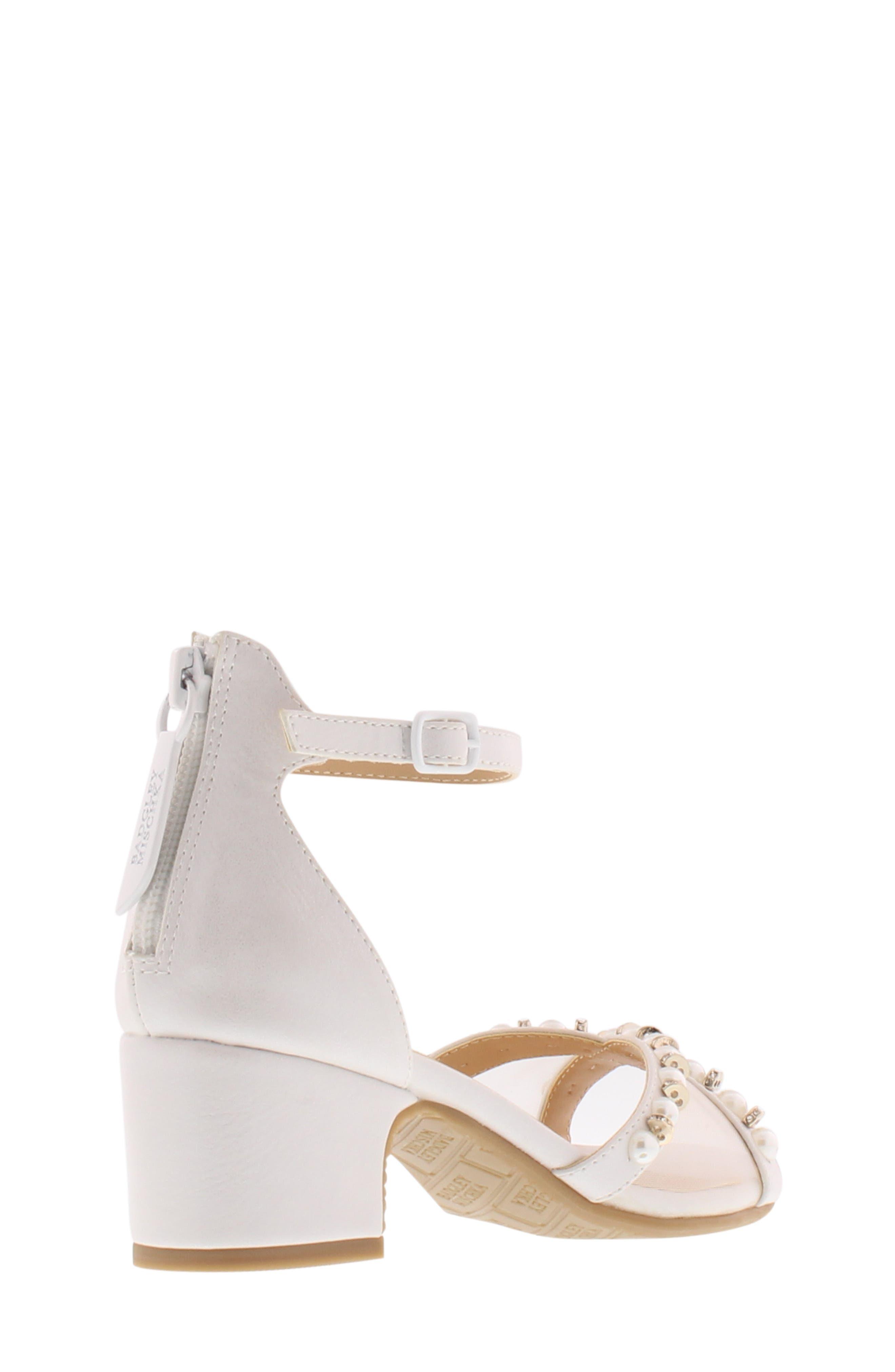 BADGLEY MISCHKA COLLECTION,                             Badgley Mischka Pernia Emily Embellished Sandal,                             Alternate thumbnail 2, color,                             WHITE SHIMMER
