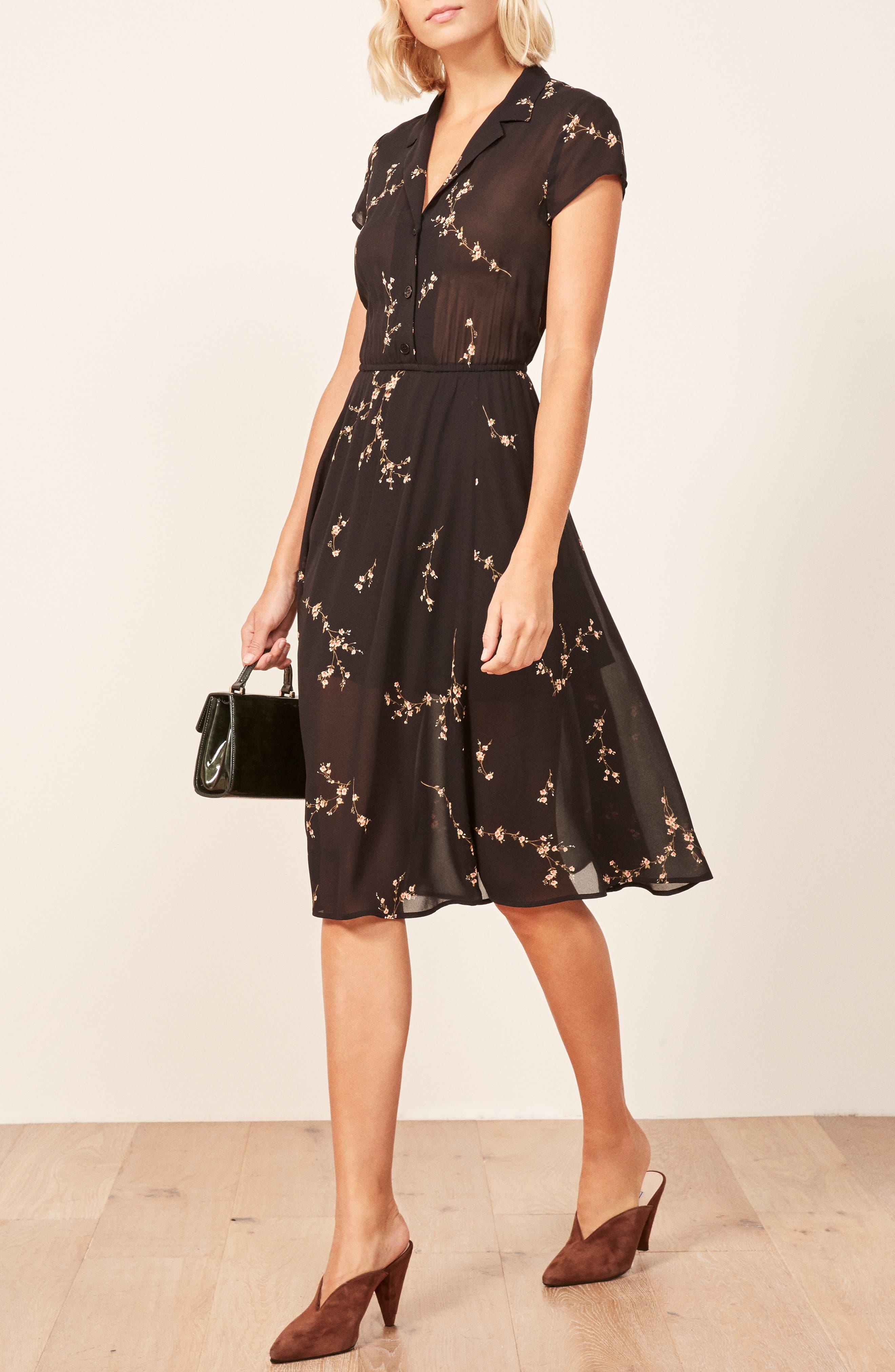 Griffith A-Line Dress,                             Alternate thumbnail 4, color,                             001