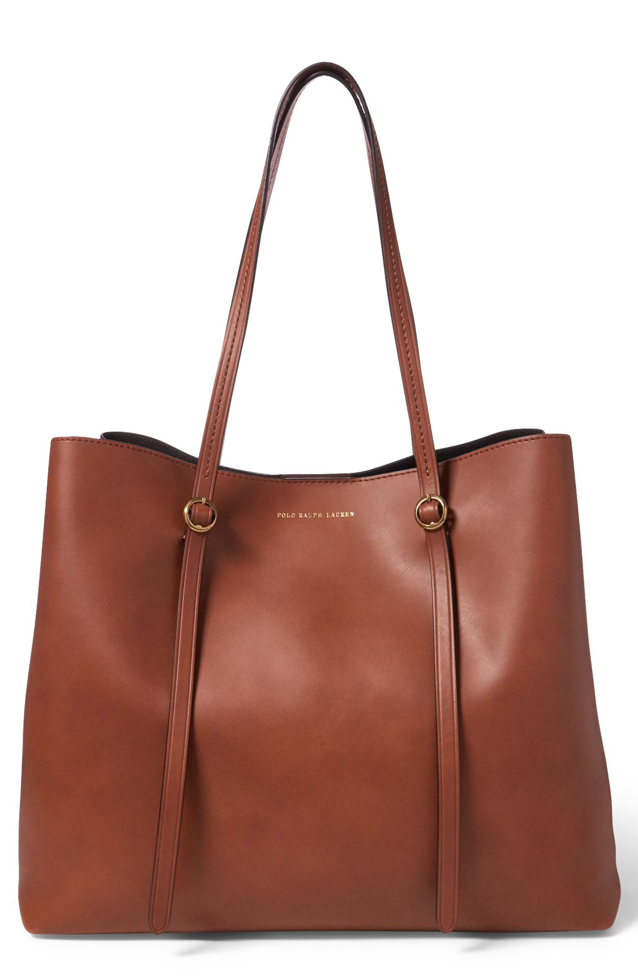Lennox Leather Tote,                         Main,                         color, 200