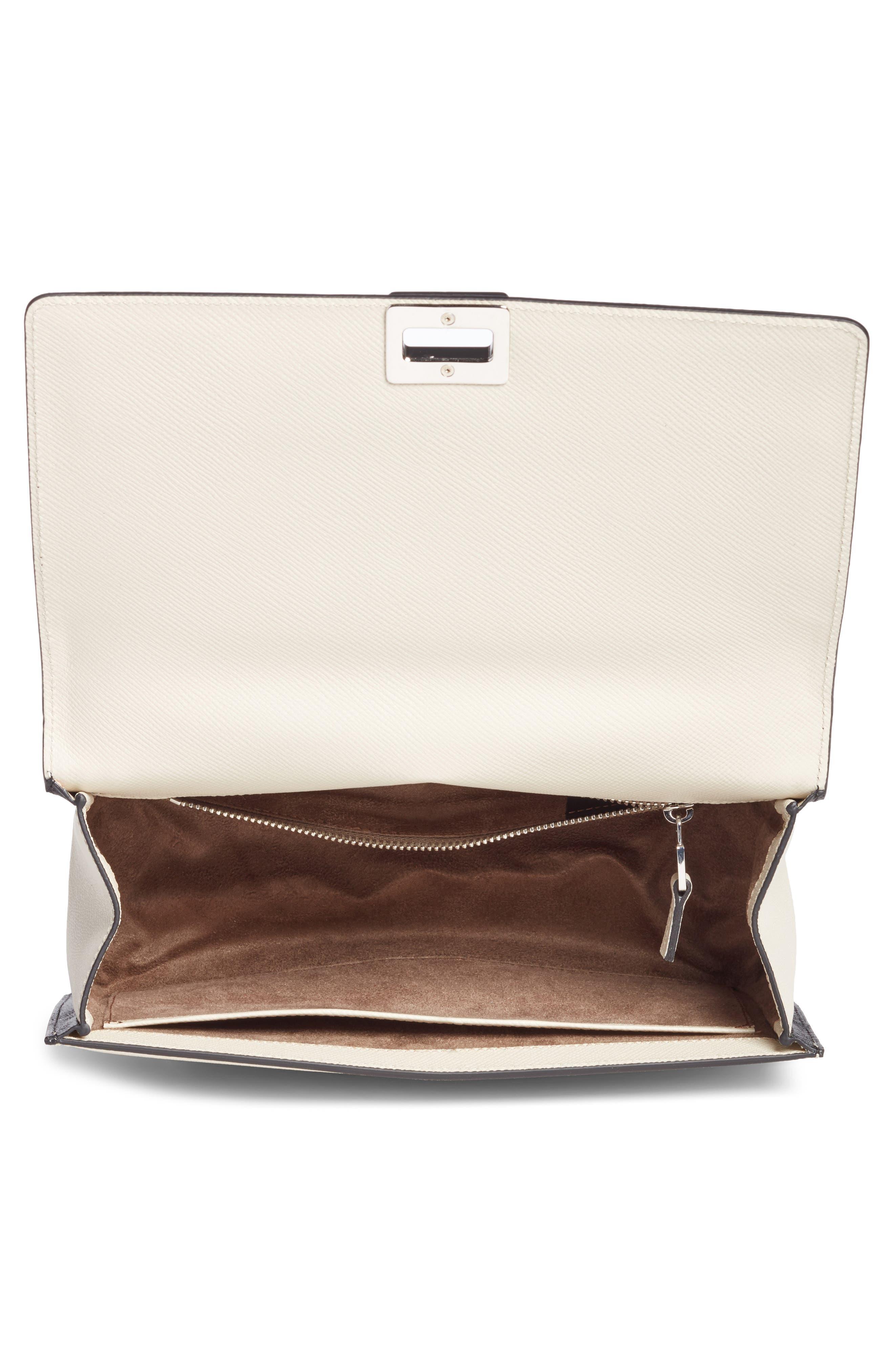 Roberta Evolution Leather Crossbody Bag,                             Alternate thumbnail 4, color,                             110