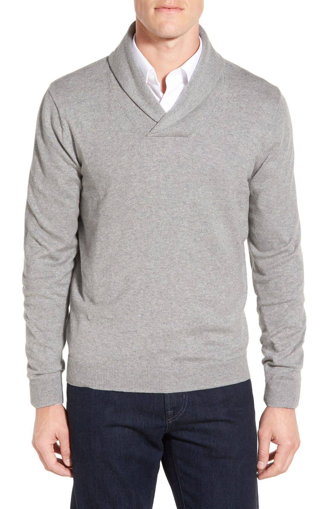 Men's Shop Shawl Collar Sweater,                             Main thumbnail 2, color,