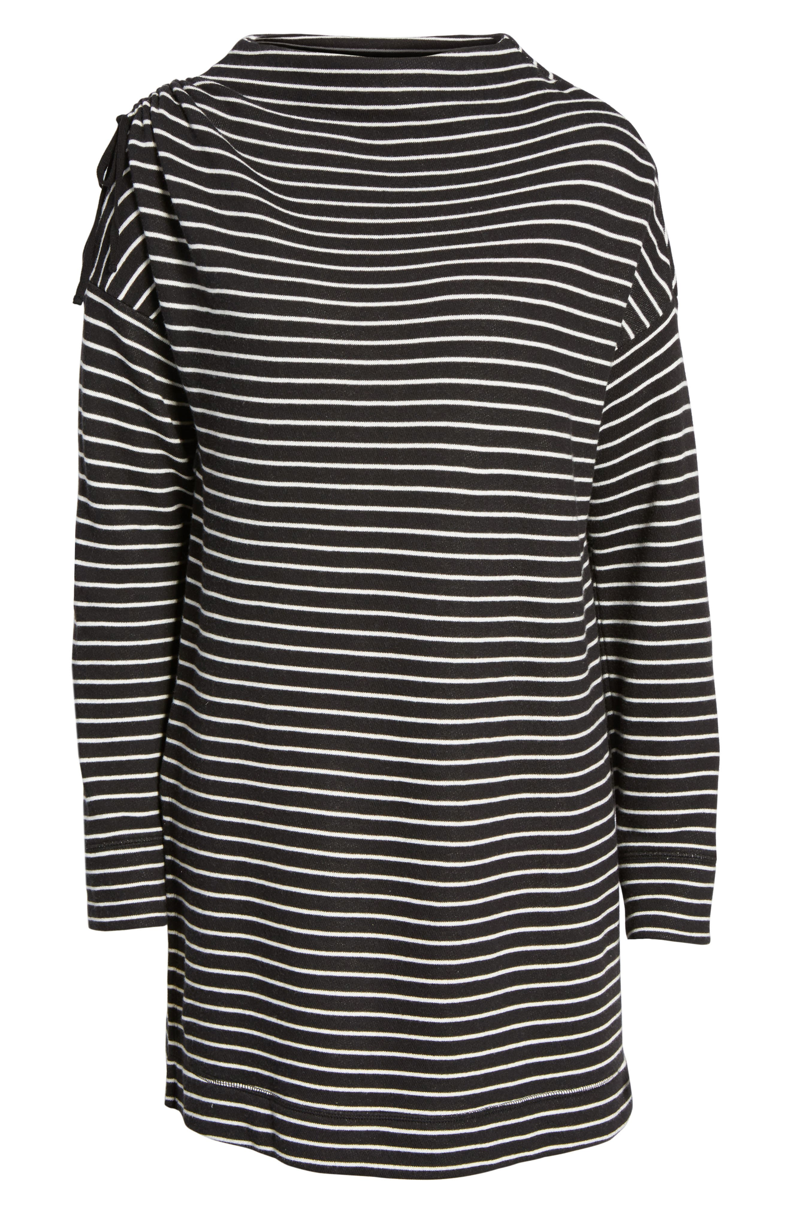 Open Shoulder Sweatshirt Tunic,                             Alternate thumbnail 6, color,                             001