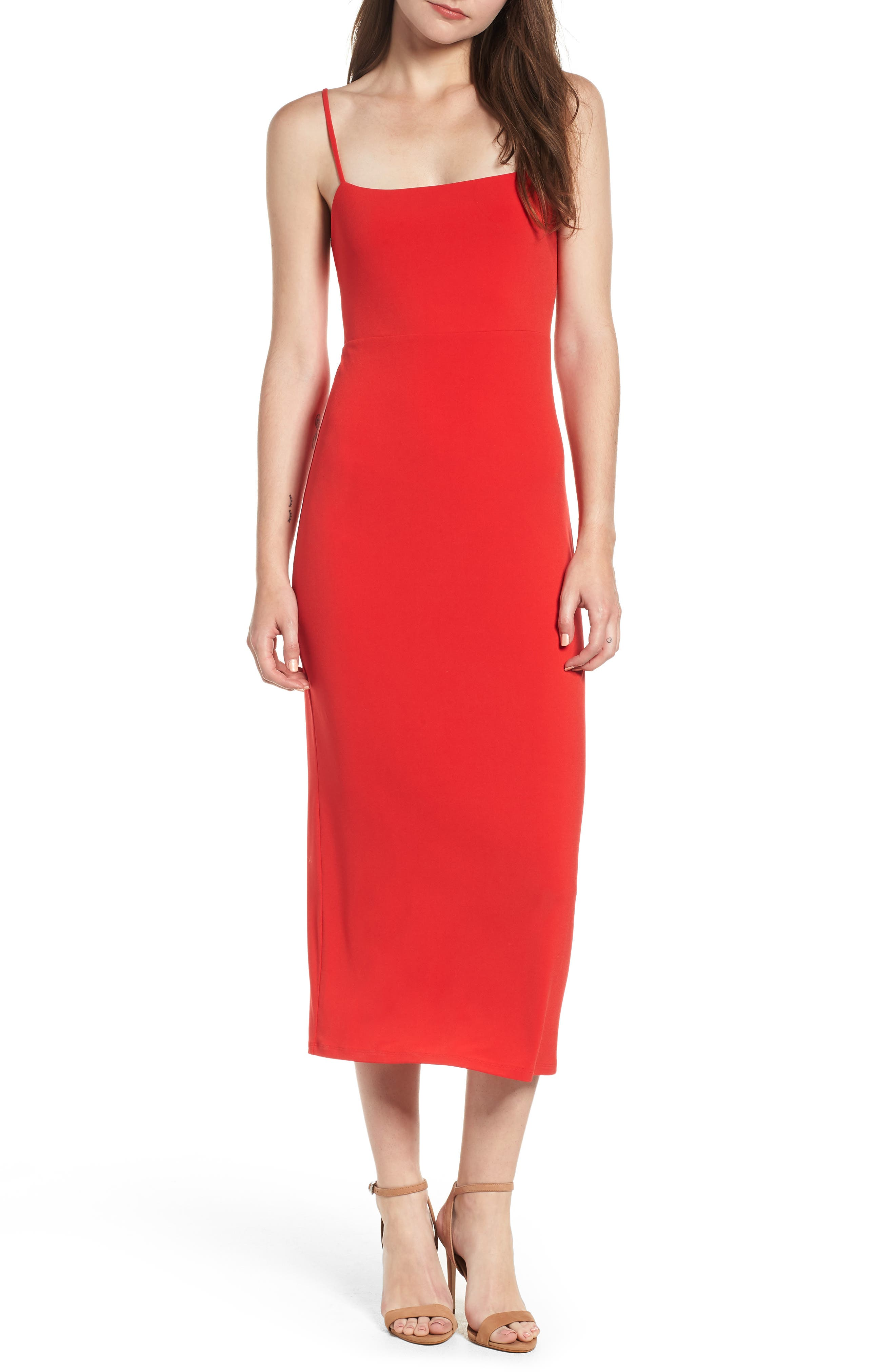 Leith Midi Dress, Red