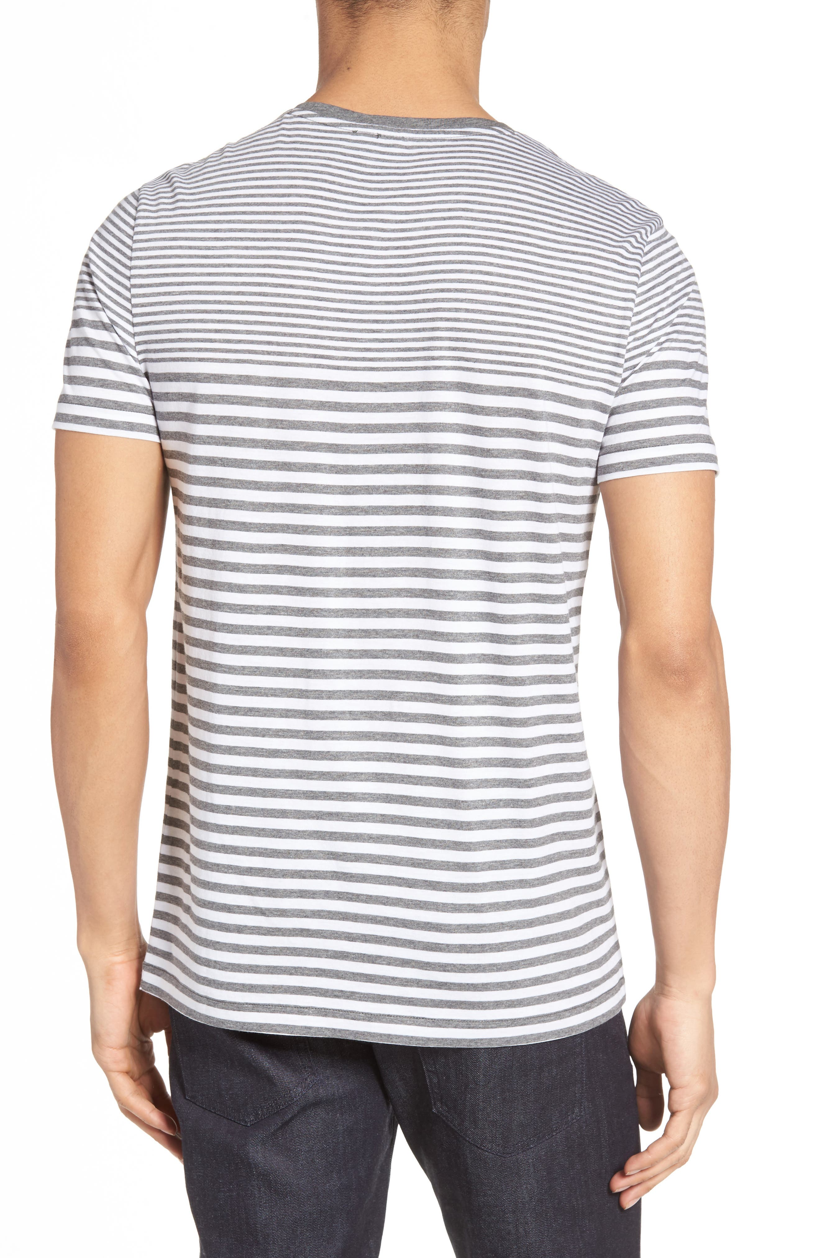 Tessler Slim Fit Stripe T-Shirt,                             Alternate thumbnail 2, color,                             030
