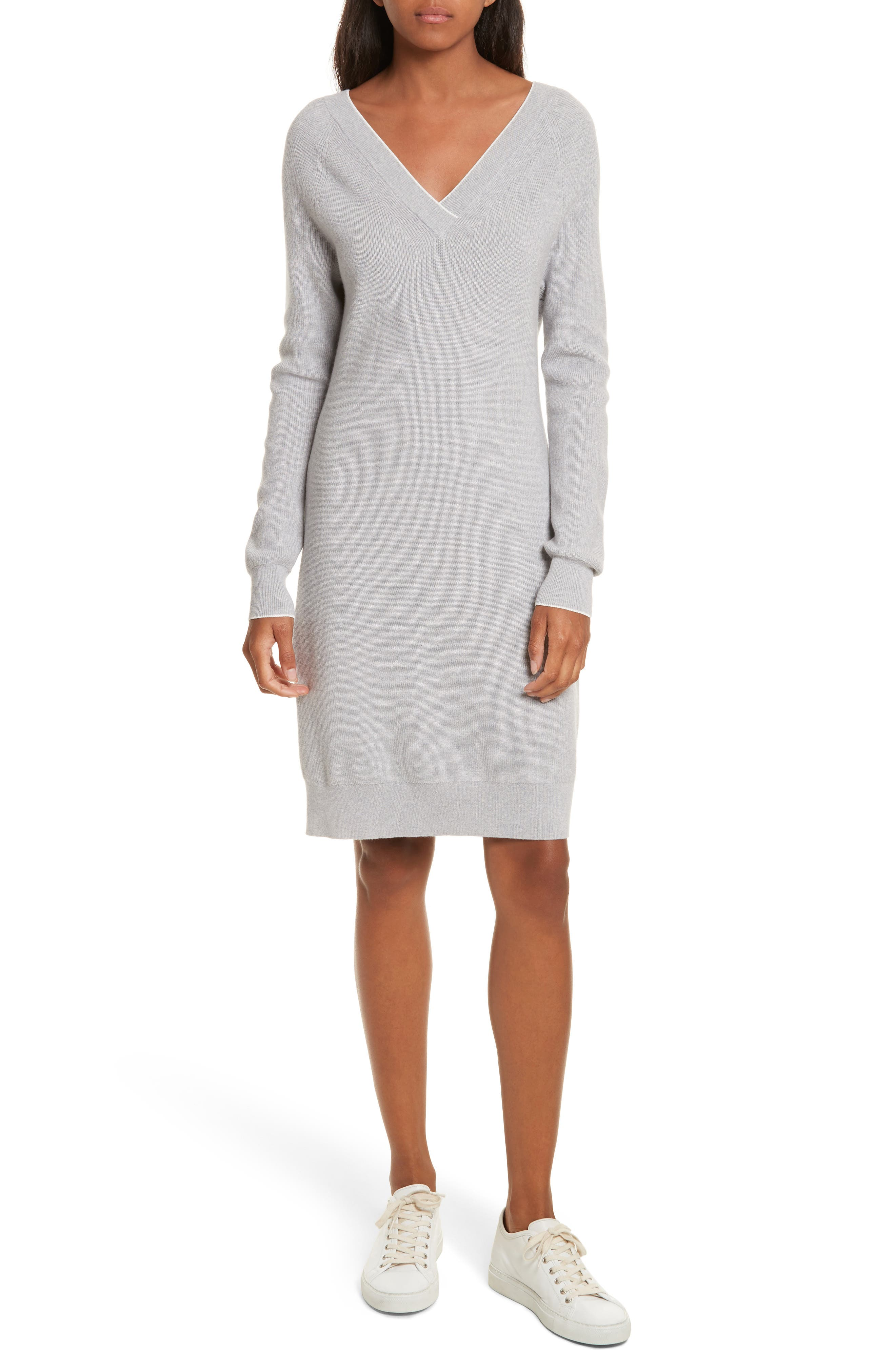 Wool Blend Sweater Dress,                         Main,                         color, 023