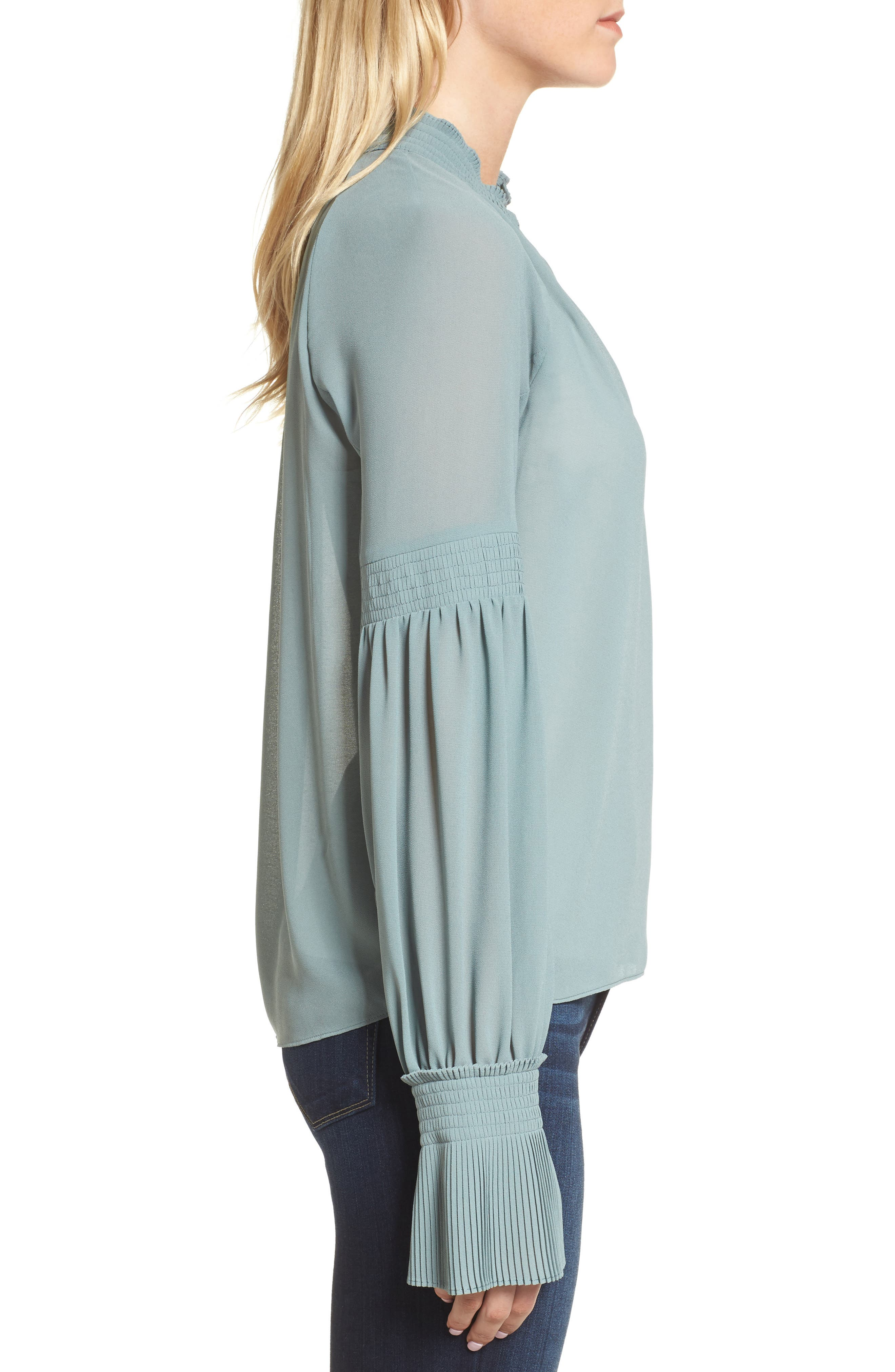 Flare Cuff Top,                             Alternate thumbnail 3, color,                             440