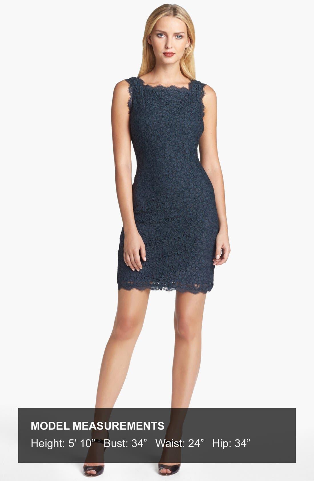 Boatneck Lace Sheath Dress,                             Alternate thumbnail 71, color,