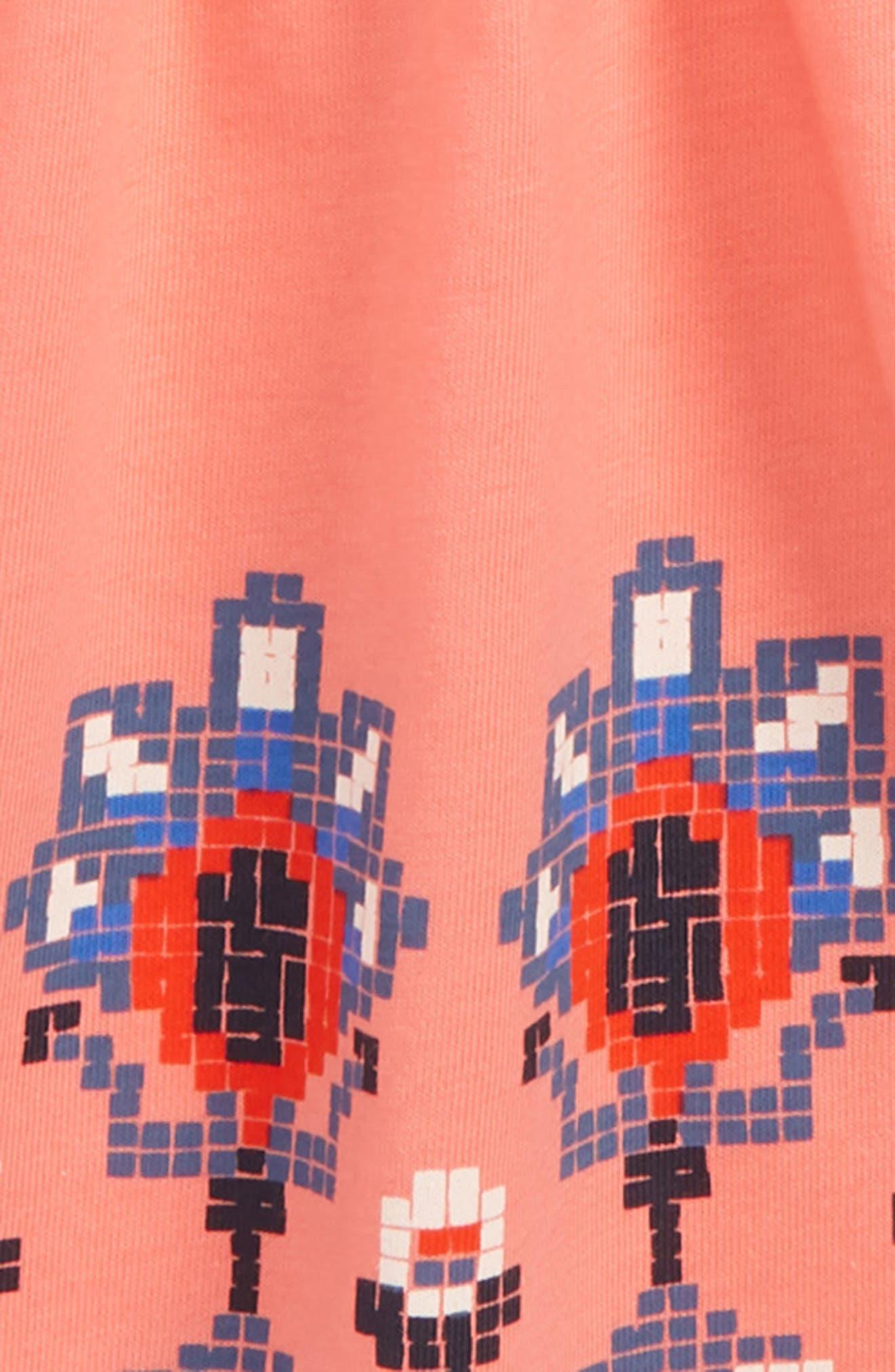 Layered Sleeve Dress,                             Alternate thumbnail 2, color,                             GRAPEFRUIT