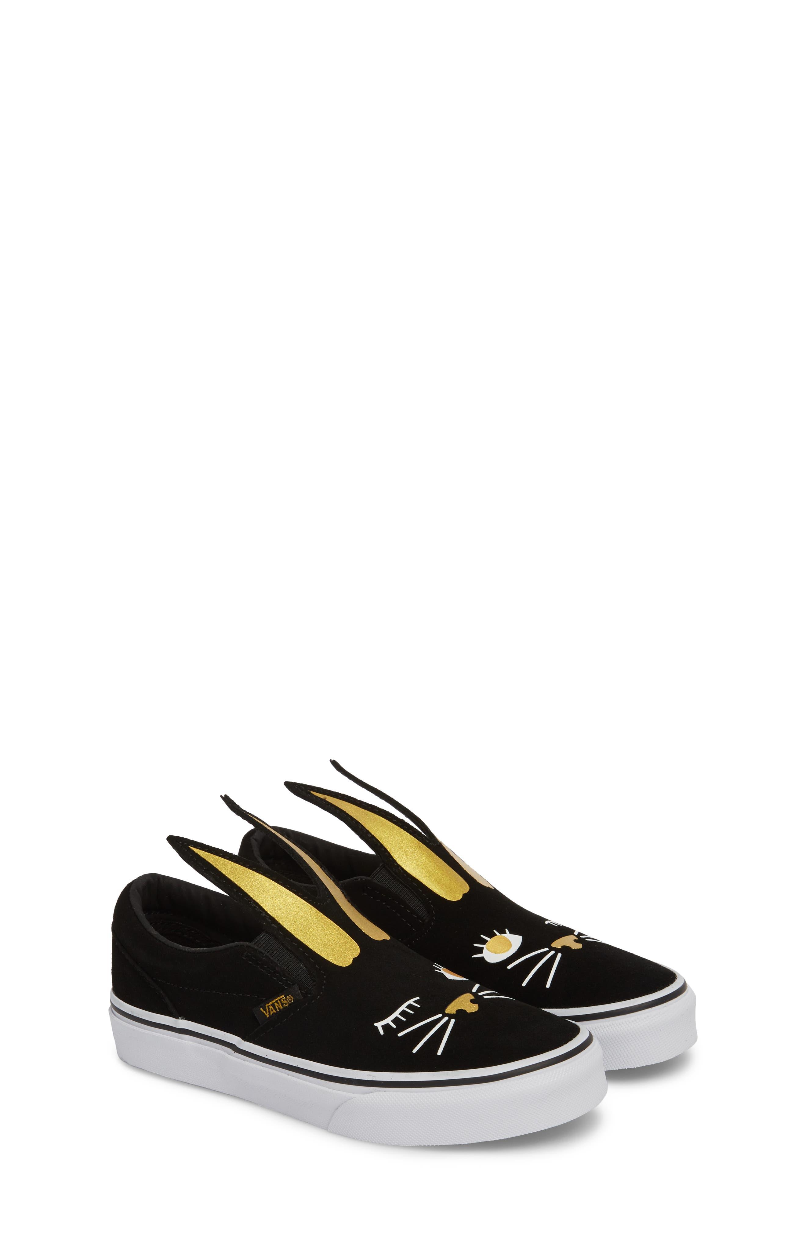 Slip-On Bunny Sneaker,                             Alternate thumbnail 3, color,