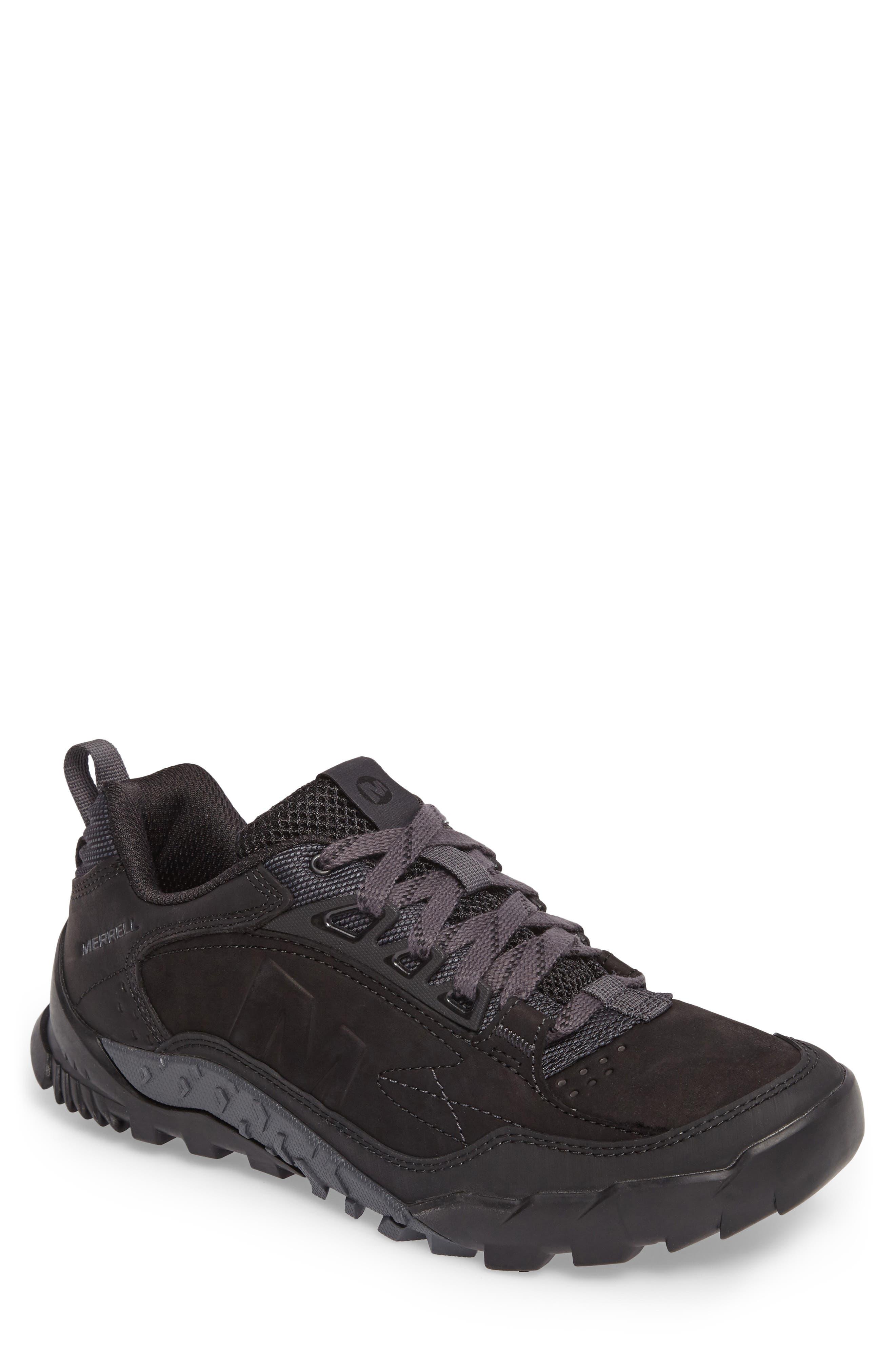 Annex Tak Low Hiking Shoe,                             Main thumbnail 1, color,                             BLACK NUBUCK LEATHER